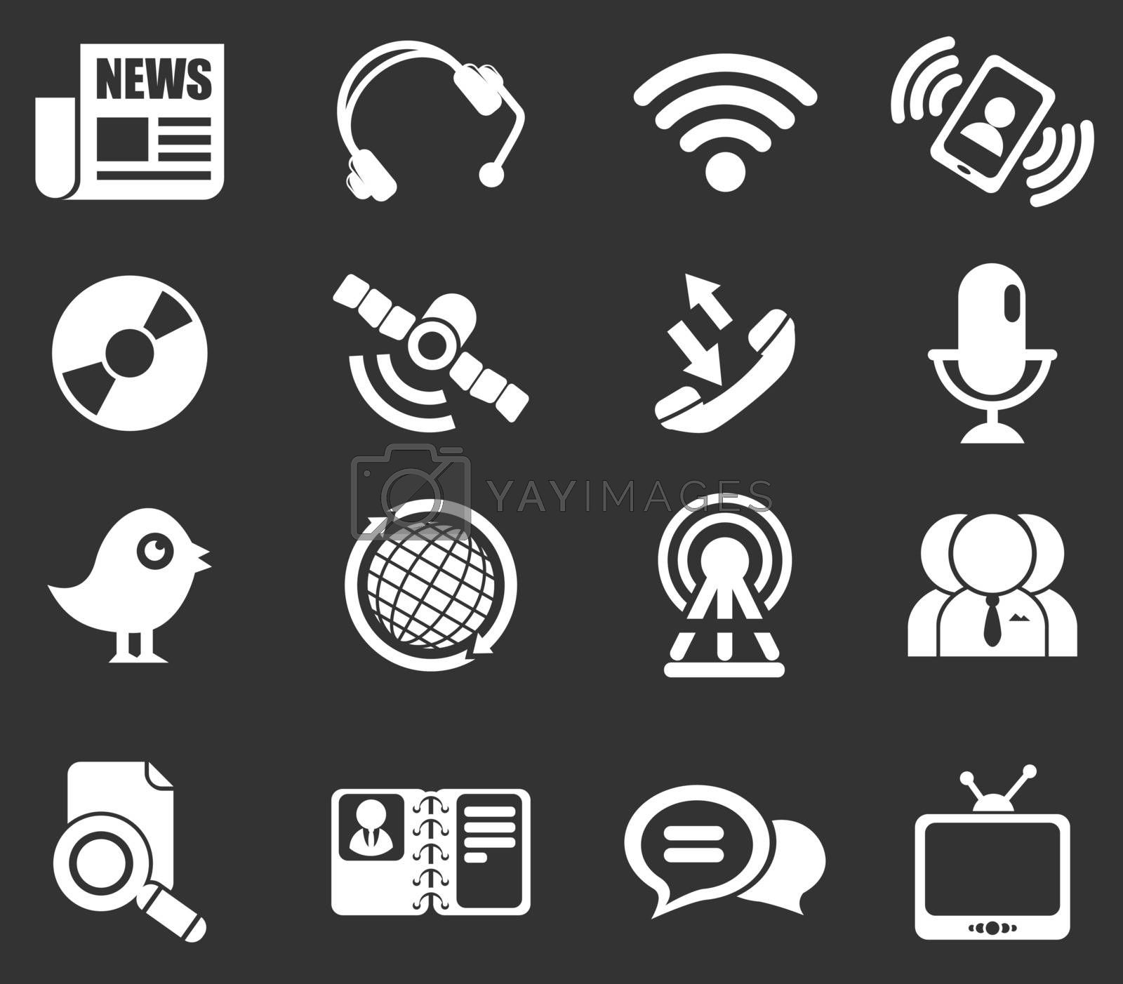 communication icons. simply symbol for web icons