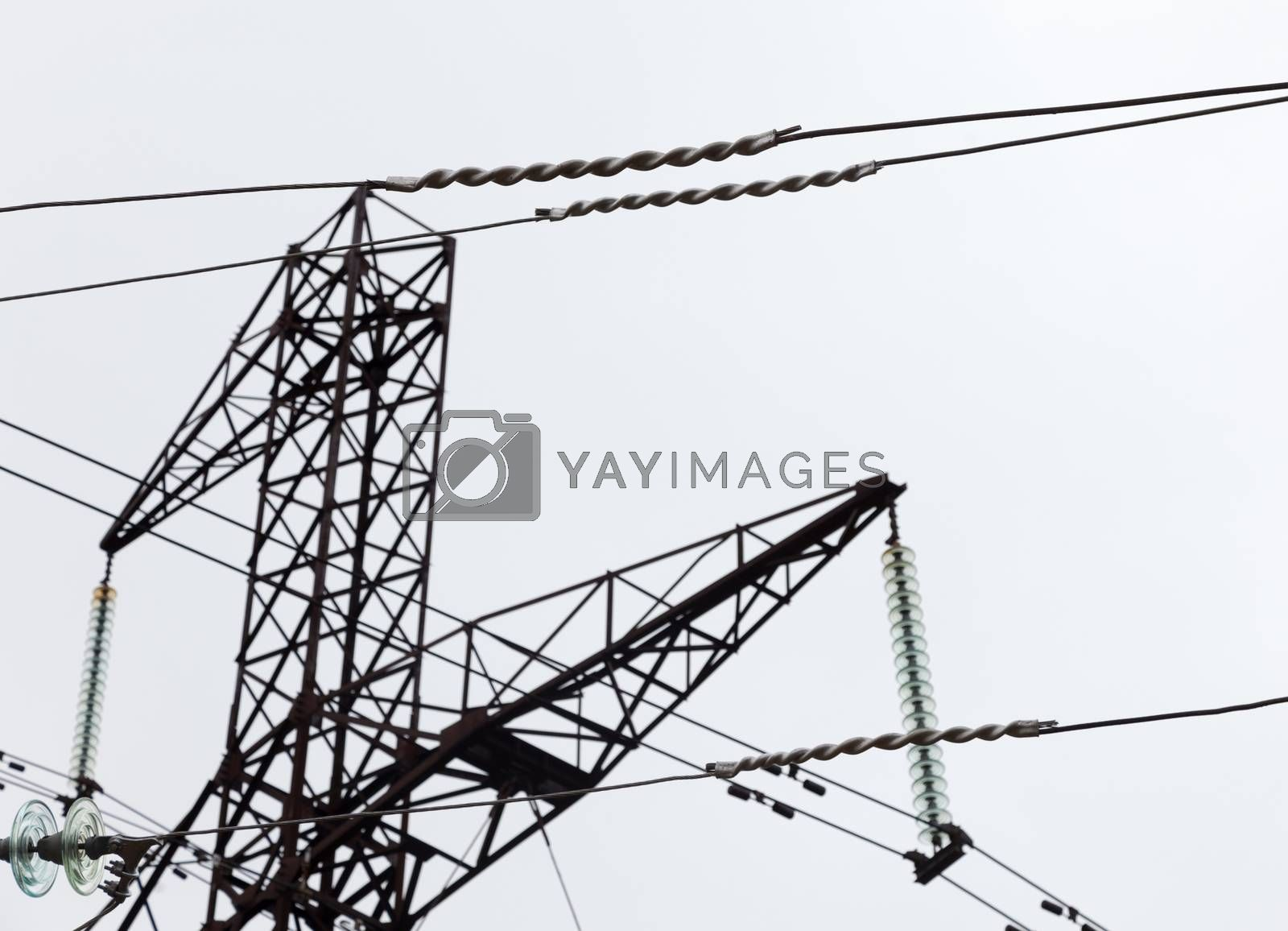 Wires power line recovered after the accident
