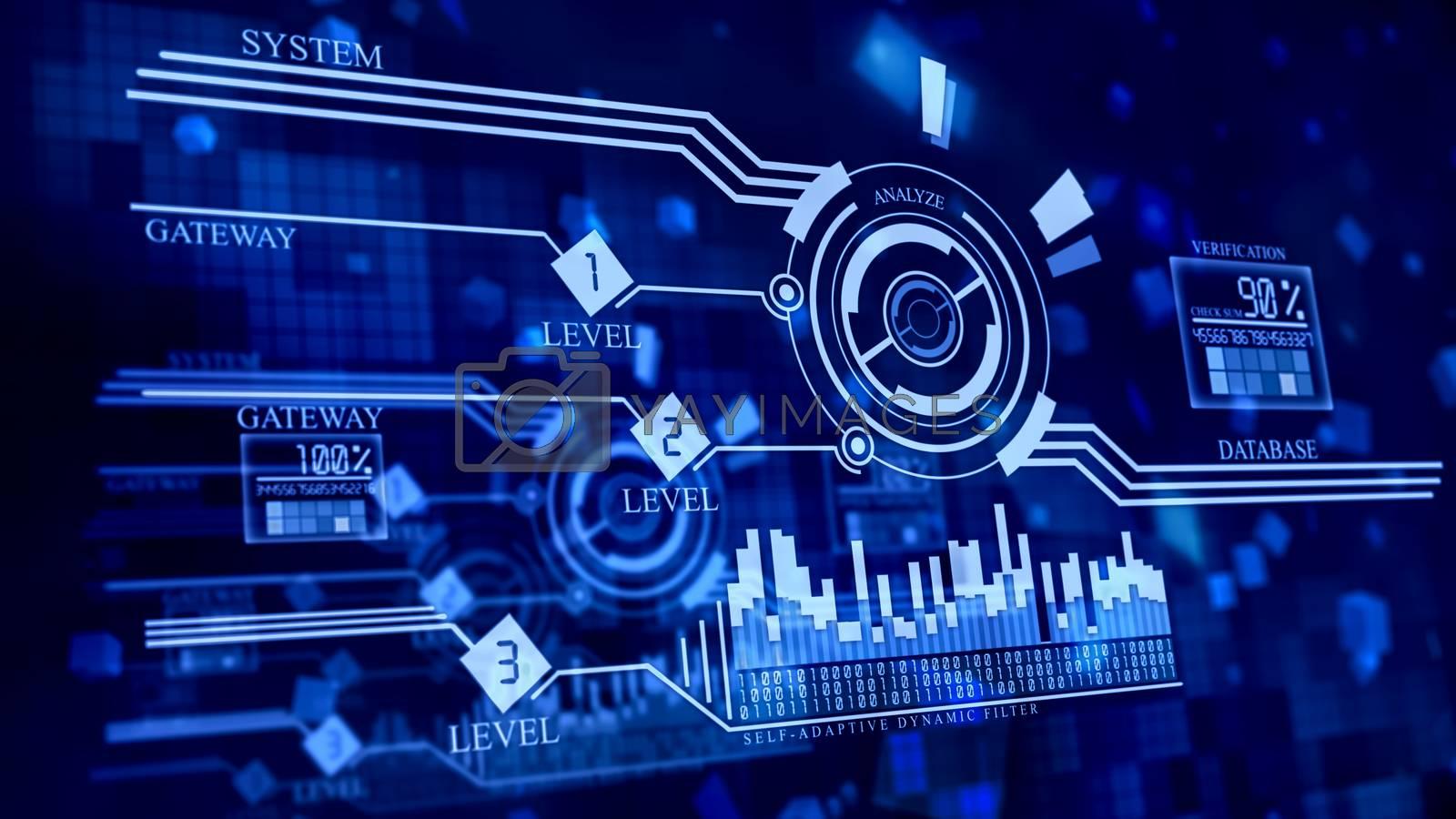 multi-leveled firewall in cyberspace by merzavka