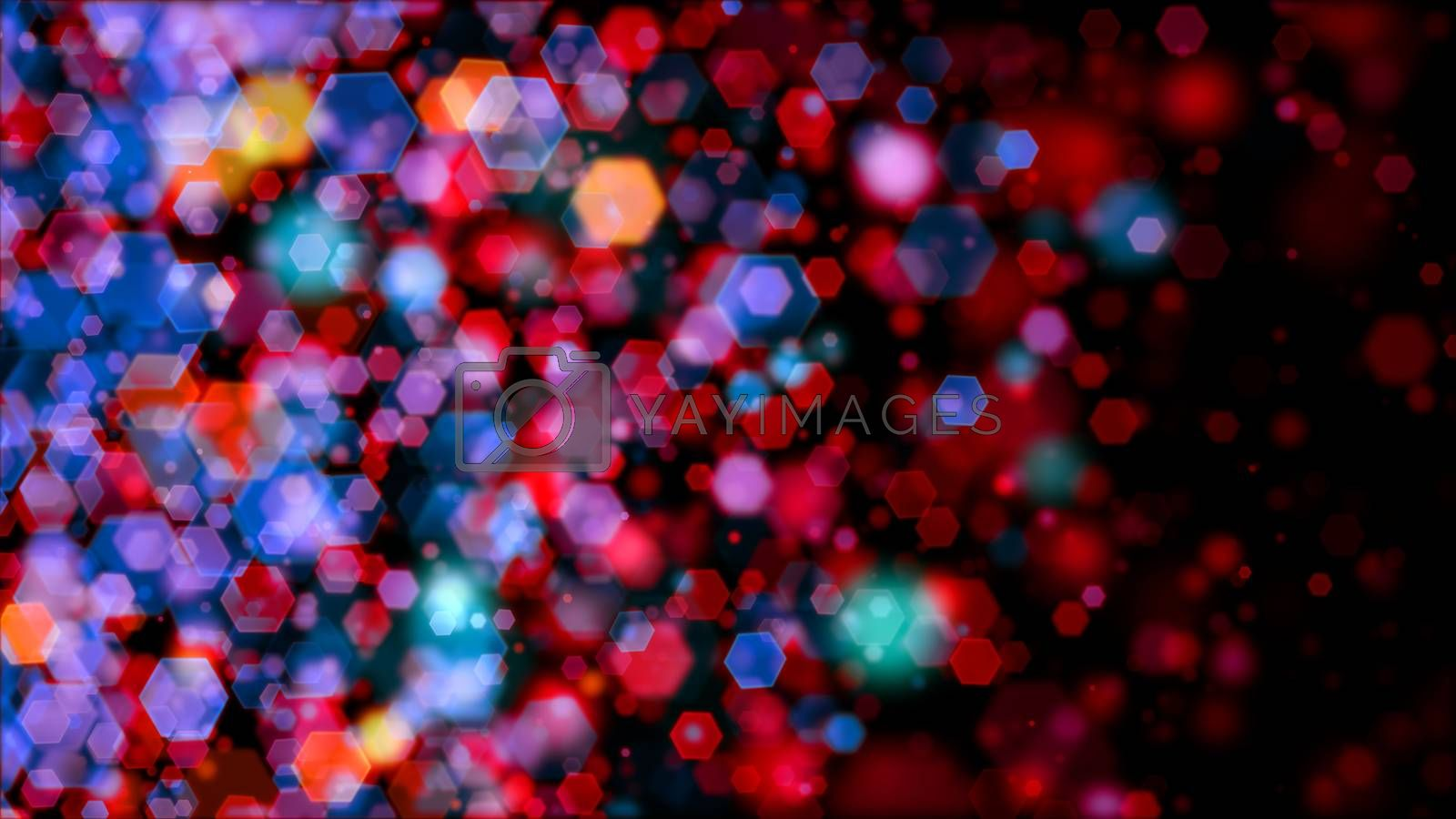 Colored bokeh backdrop for abstract horizontal background
