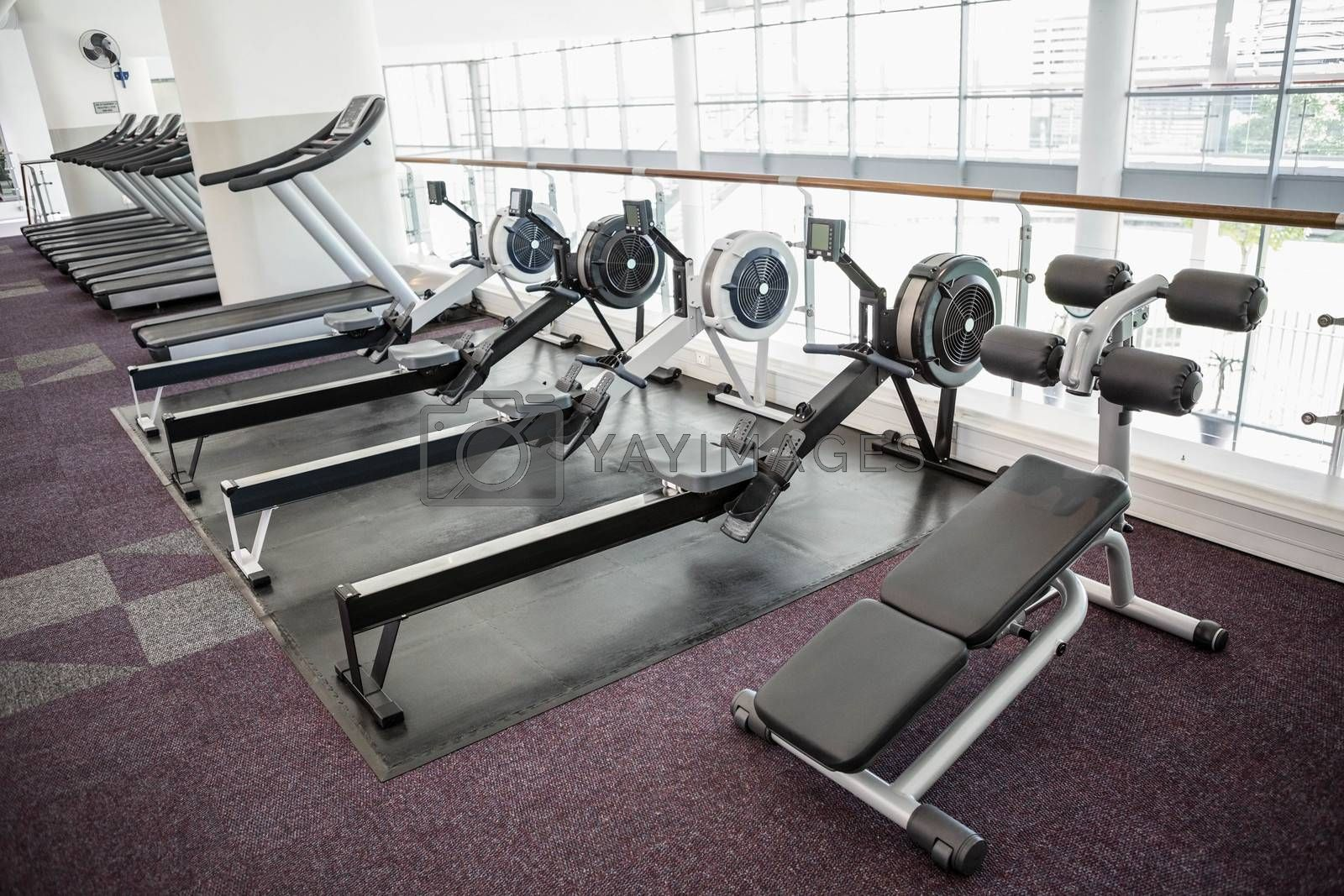 Gym with no people interior
