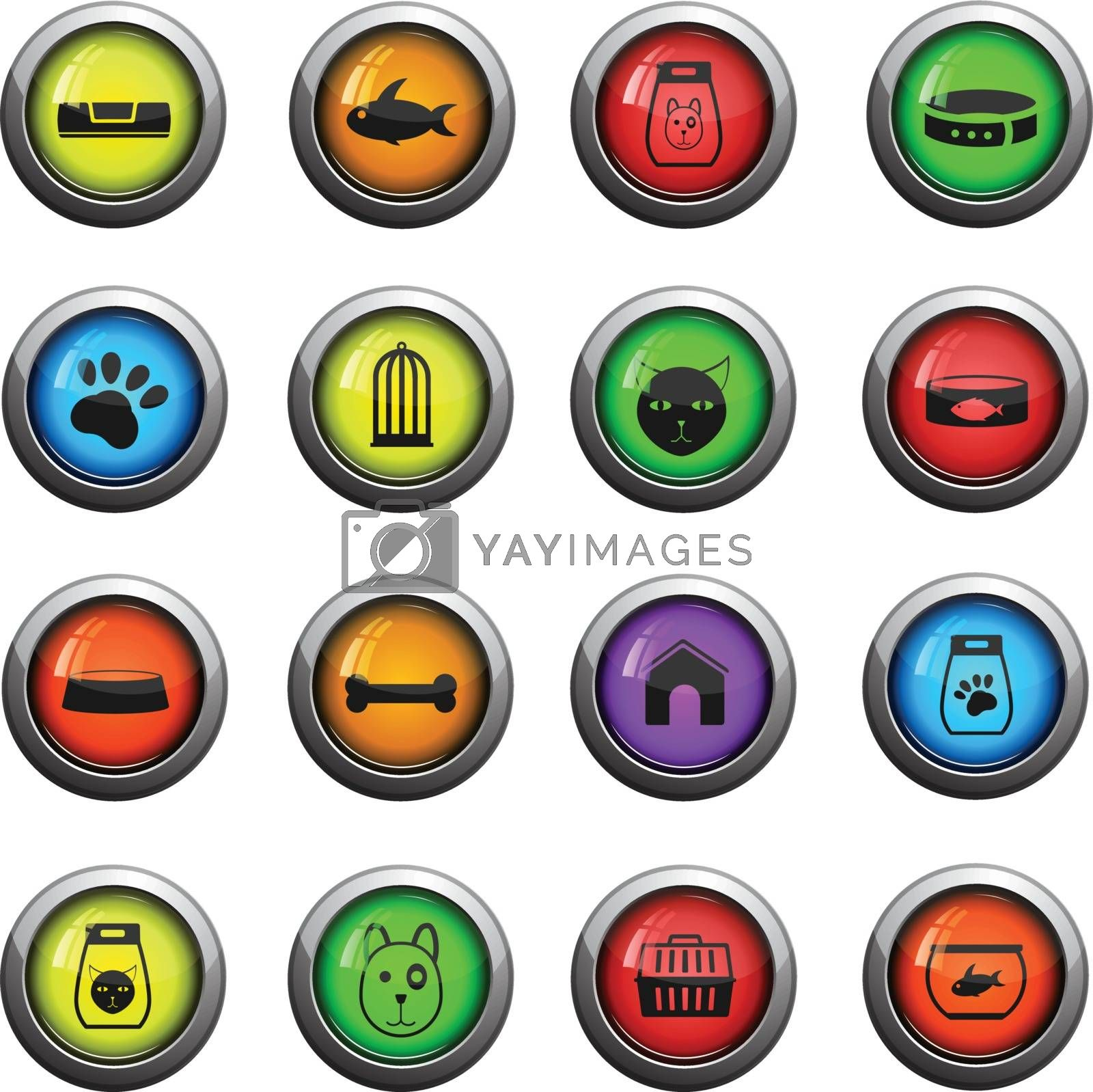 Goods for pets color icon for web sites and user interface