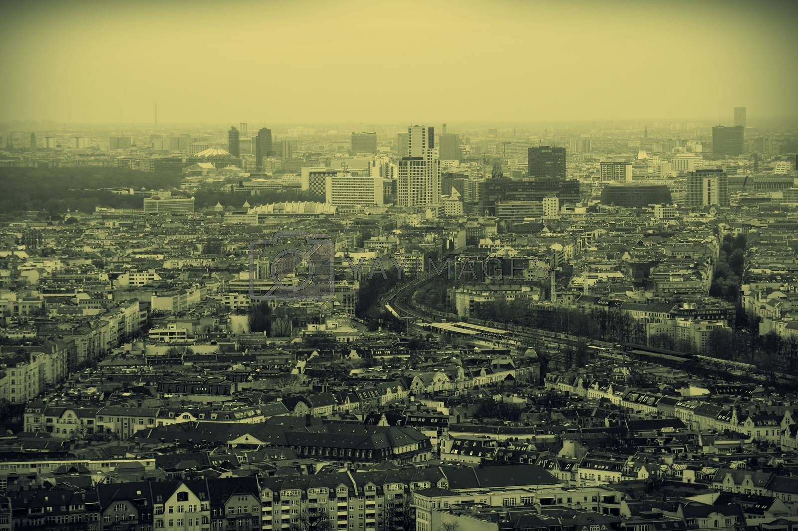 Royalty free image of Berlin Aerial View by ginton
