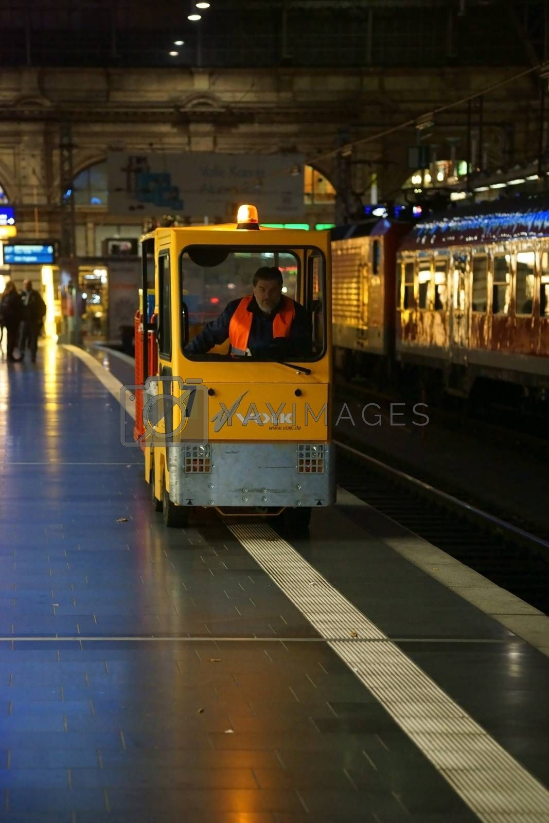 Royalty free image of Baggage car Main Station by ginton