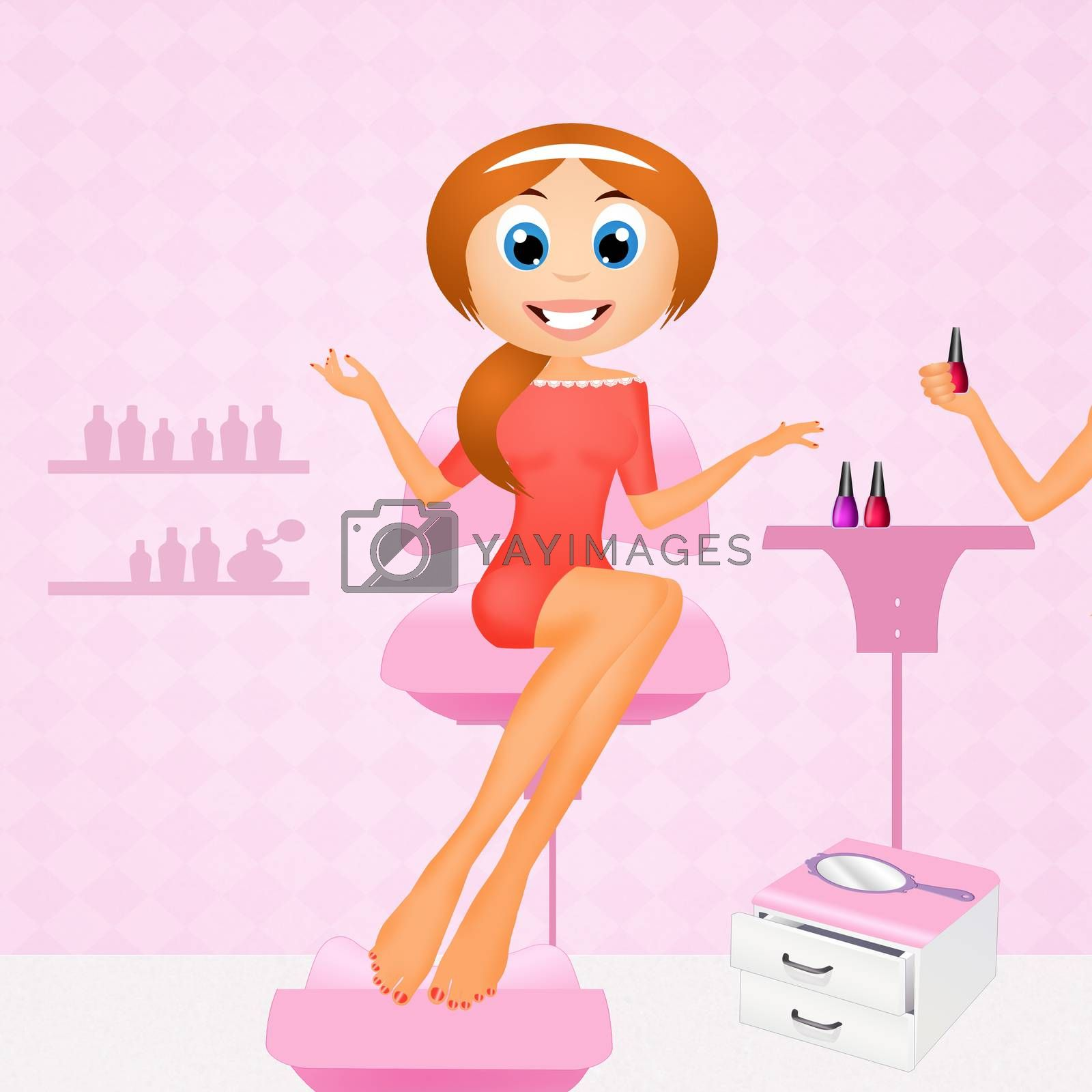 woman does manicures and pedicures by adrenalina