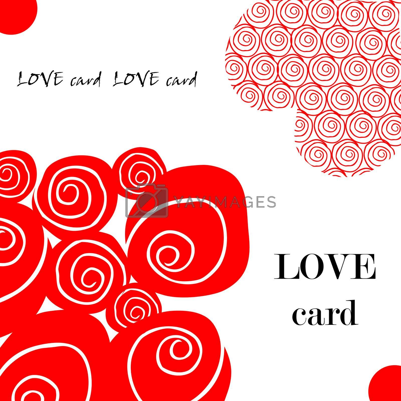 Love fake paper card, heart, flower, valentin's day