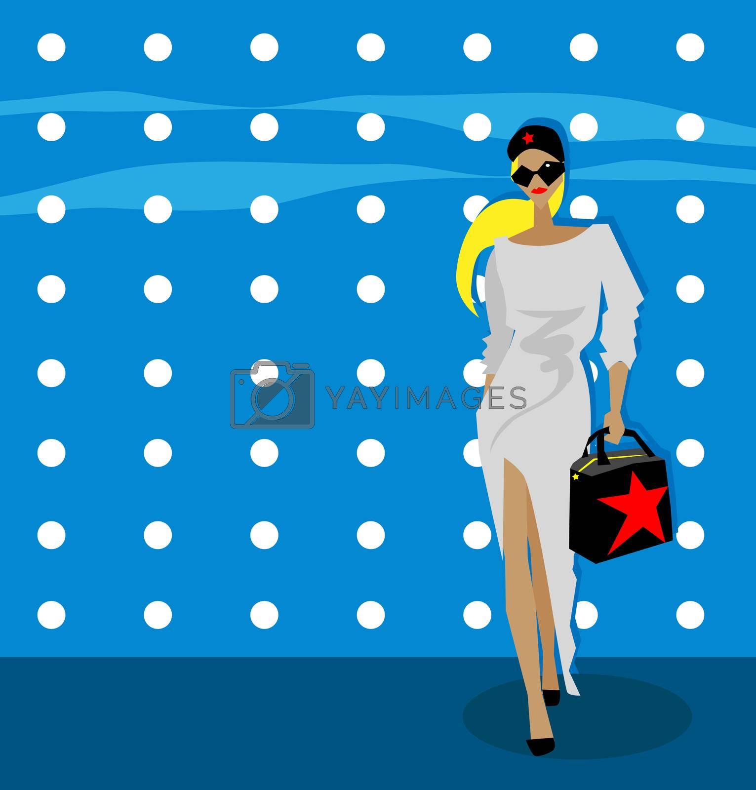 fashion woman background, fake card, poster