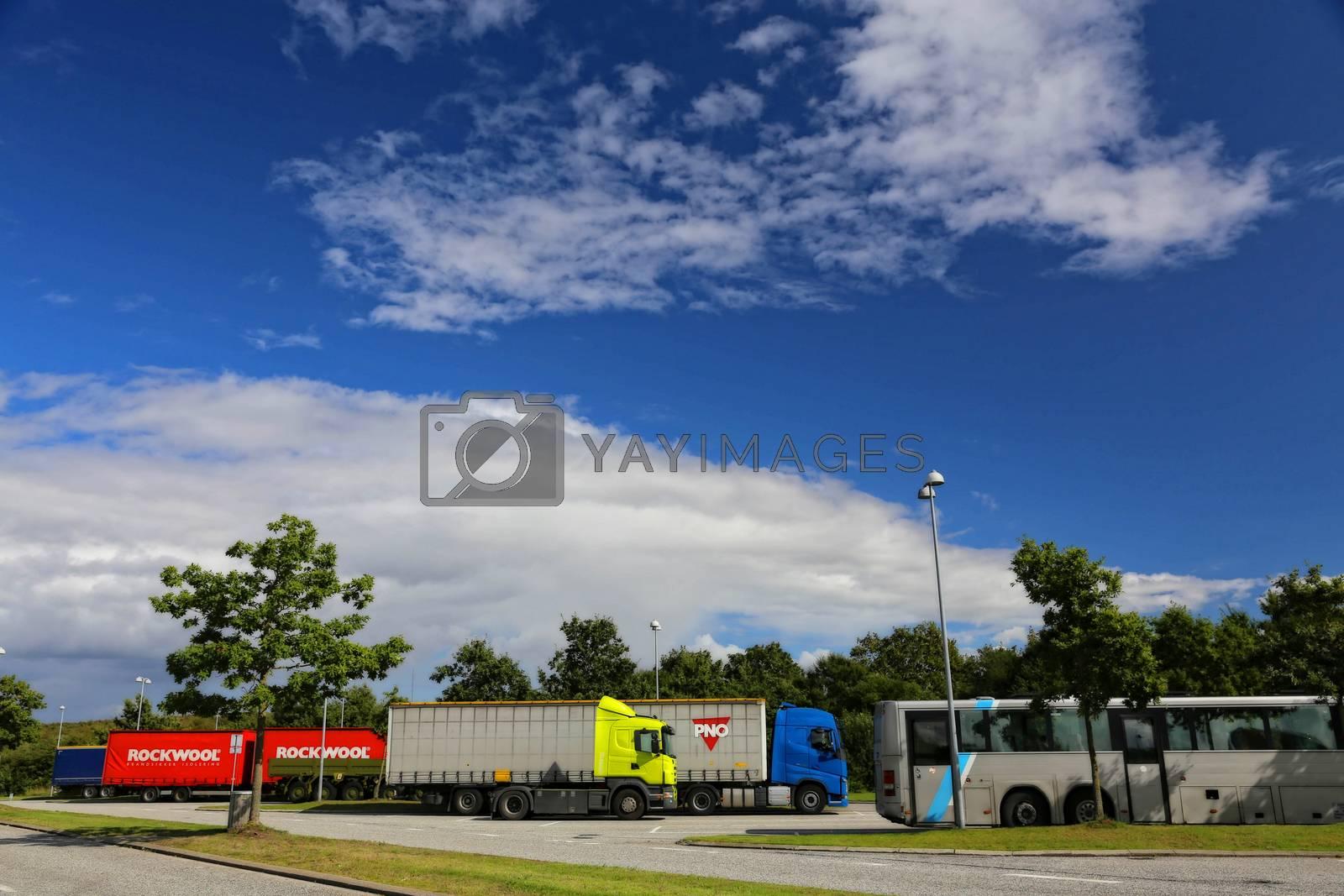 Truck stopp lang E45 Danmark