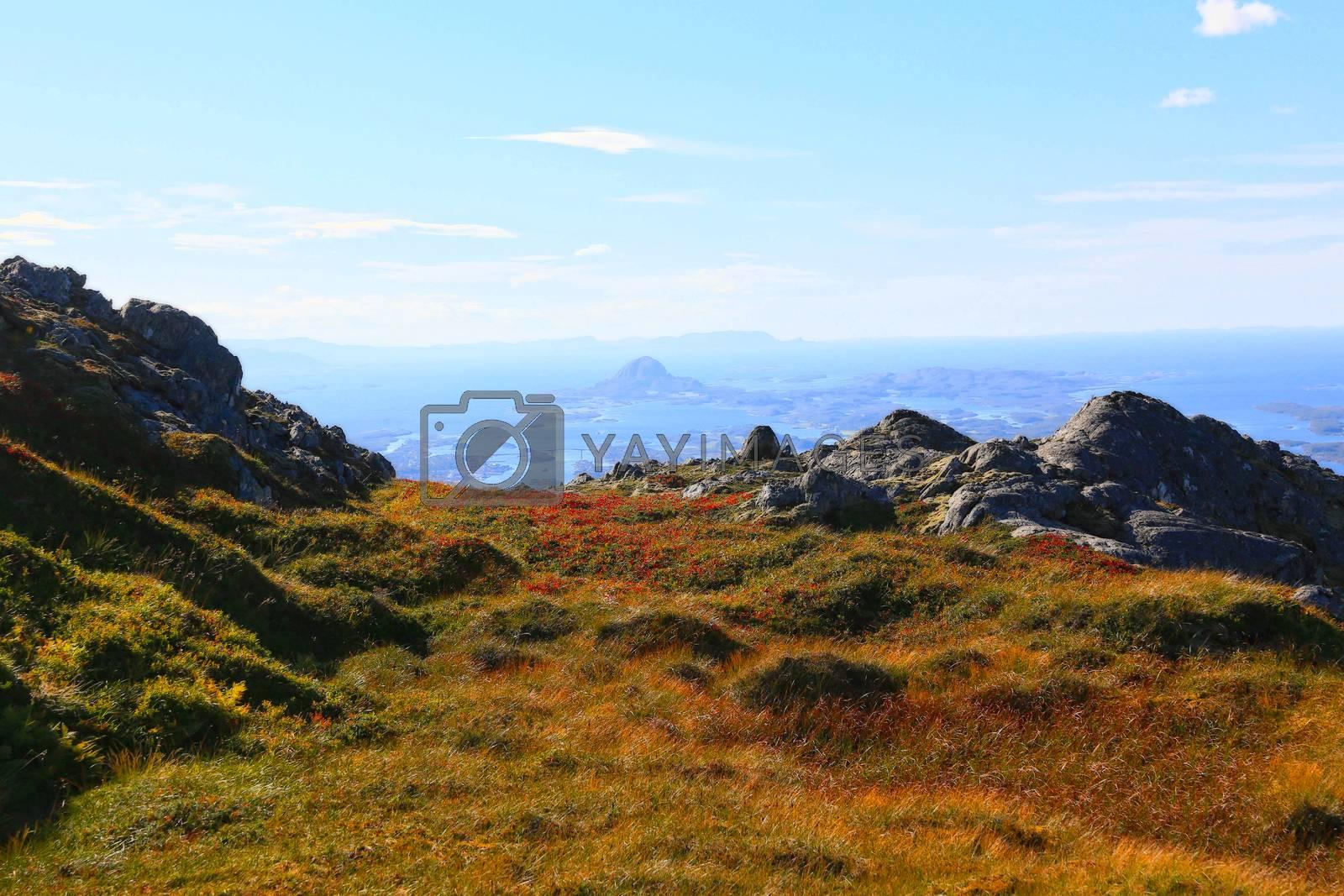 Utsikt fra Mofjellet mot Brønnøysund
