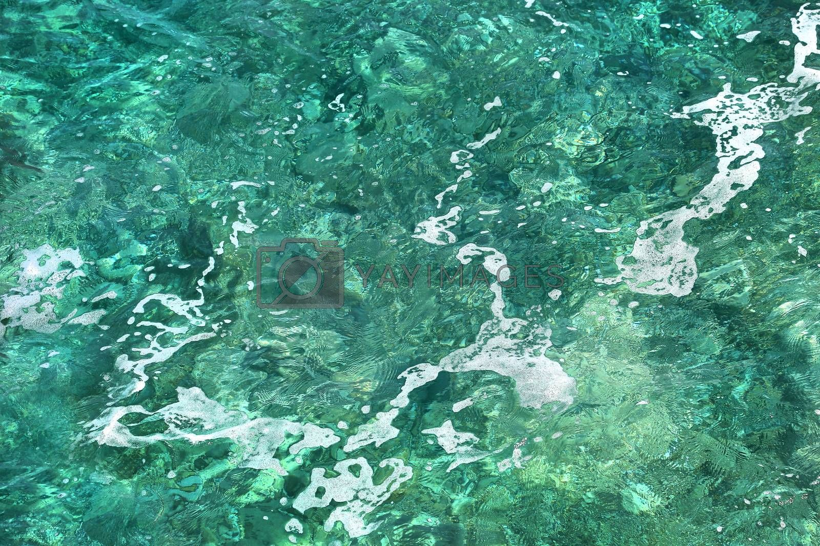 Nature background of transparent sea water