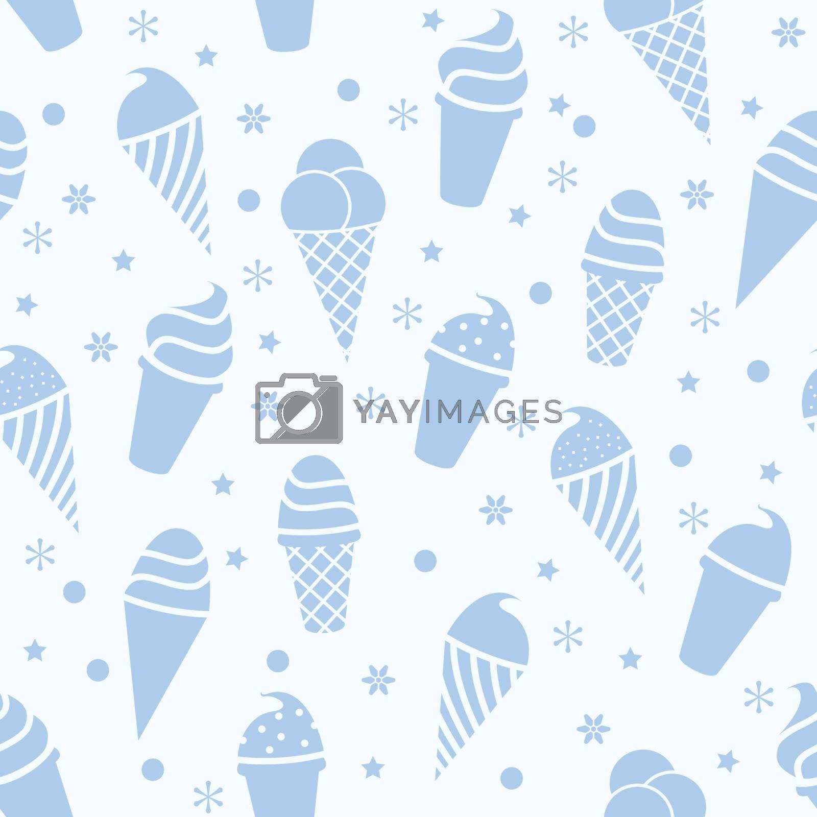 vector seamless icecream pattern