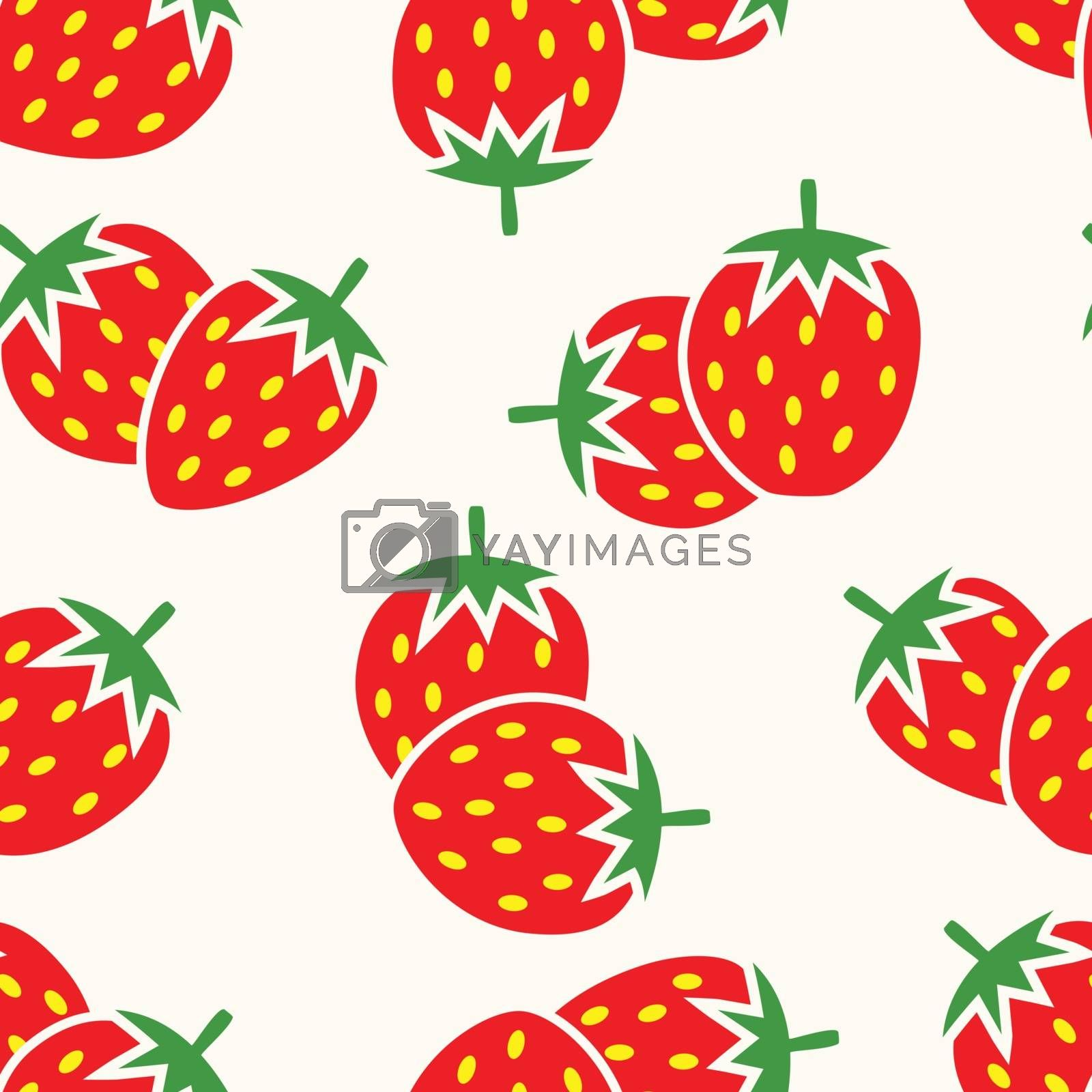 vector seamless repeating strawberry pattern