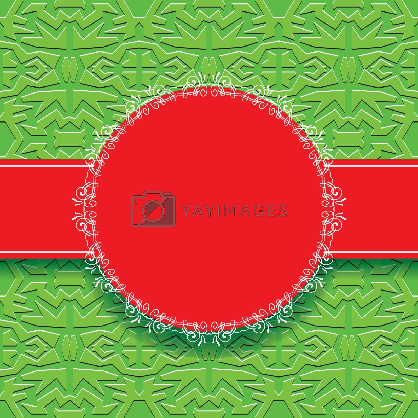 abstract green vector wallpaper with circles frame