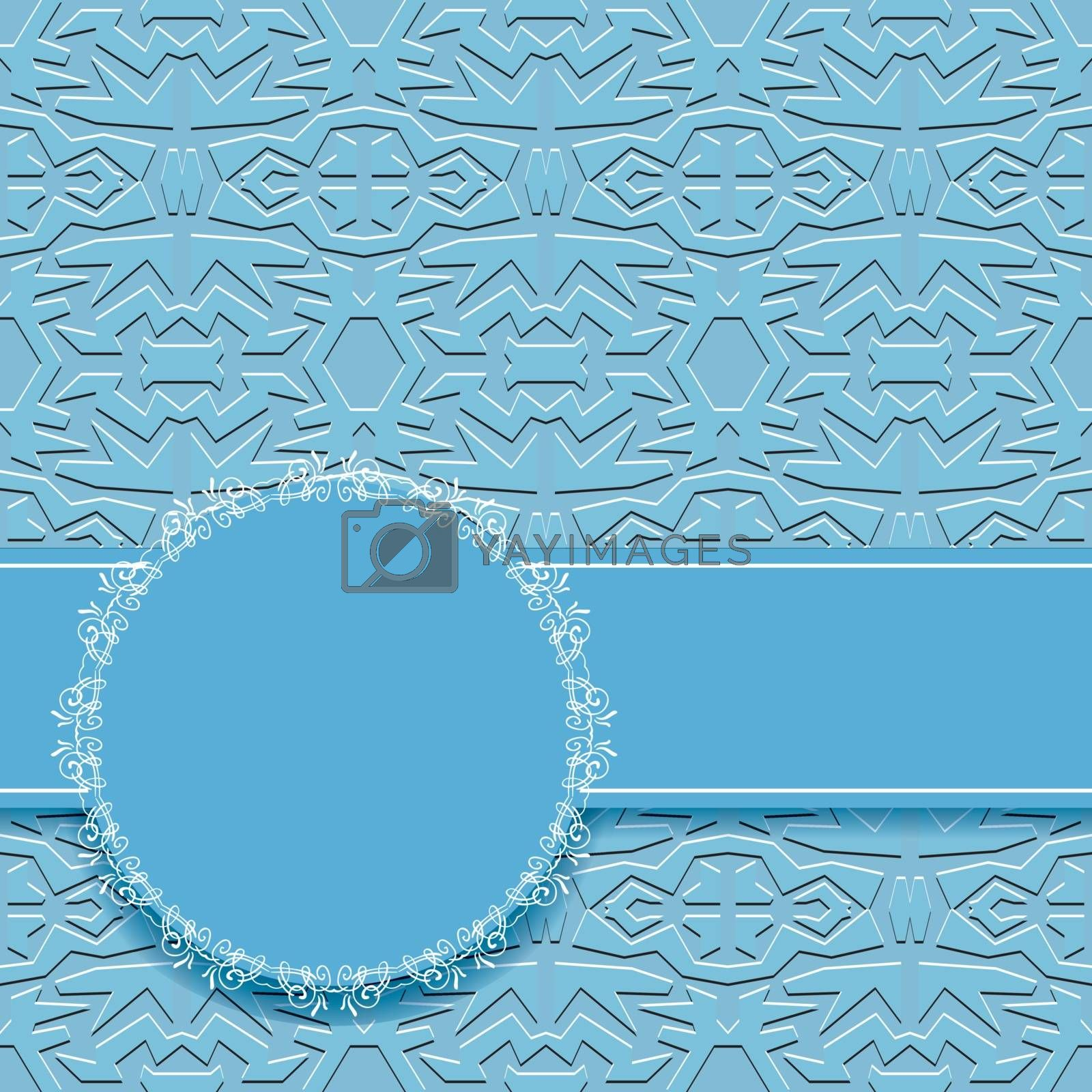 abstract  blue vector wallpaper with circles frame