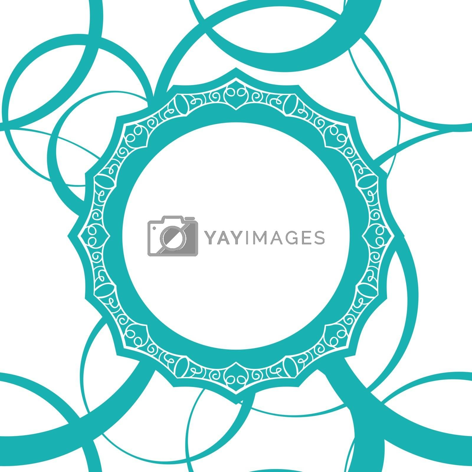abstract monochrome vector seamless wallpaper with circles