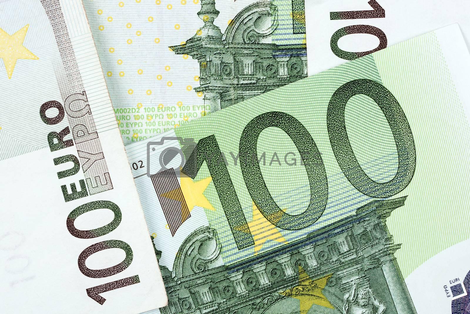 European money, a background with 100 euro