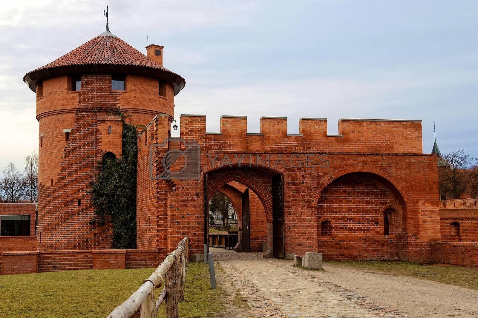 Castle in Malbork in Poland, entrence gate