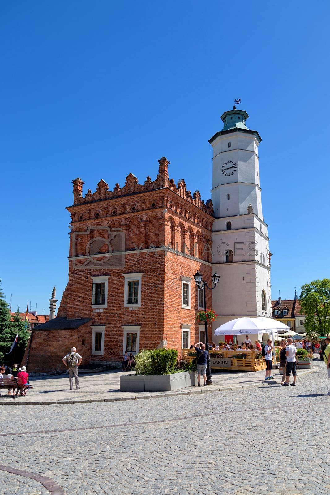 SANDOMIERZ - JUNE 05: City Hall in the Old Town on June 05, 2015 in Sandomierz, Poland