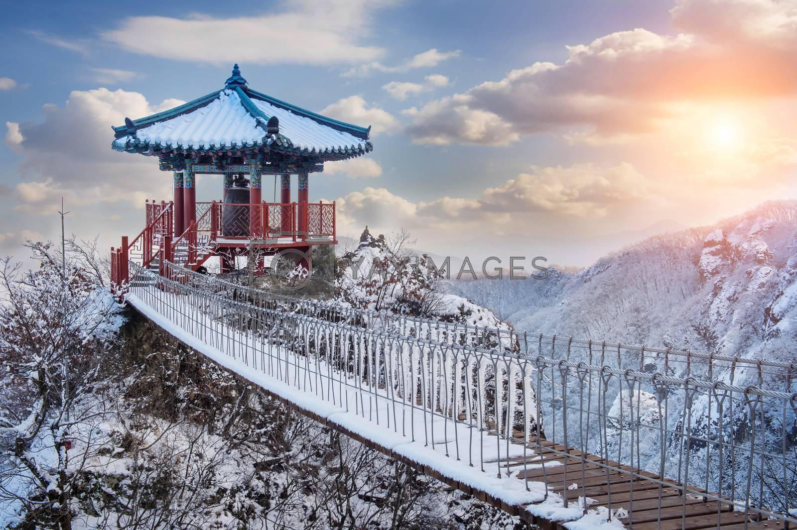 Landscape in winter,Guemosan in korea