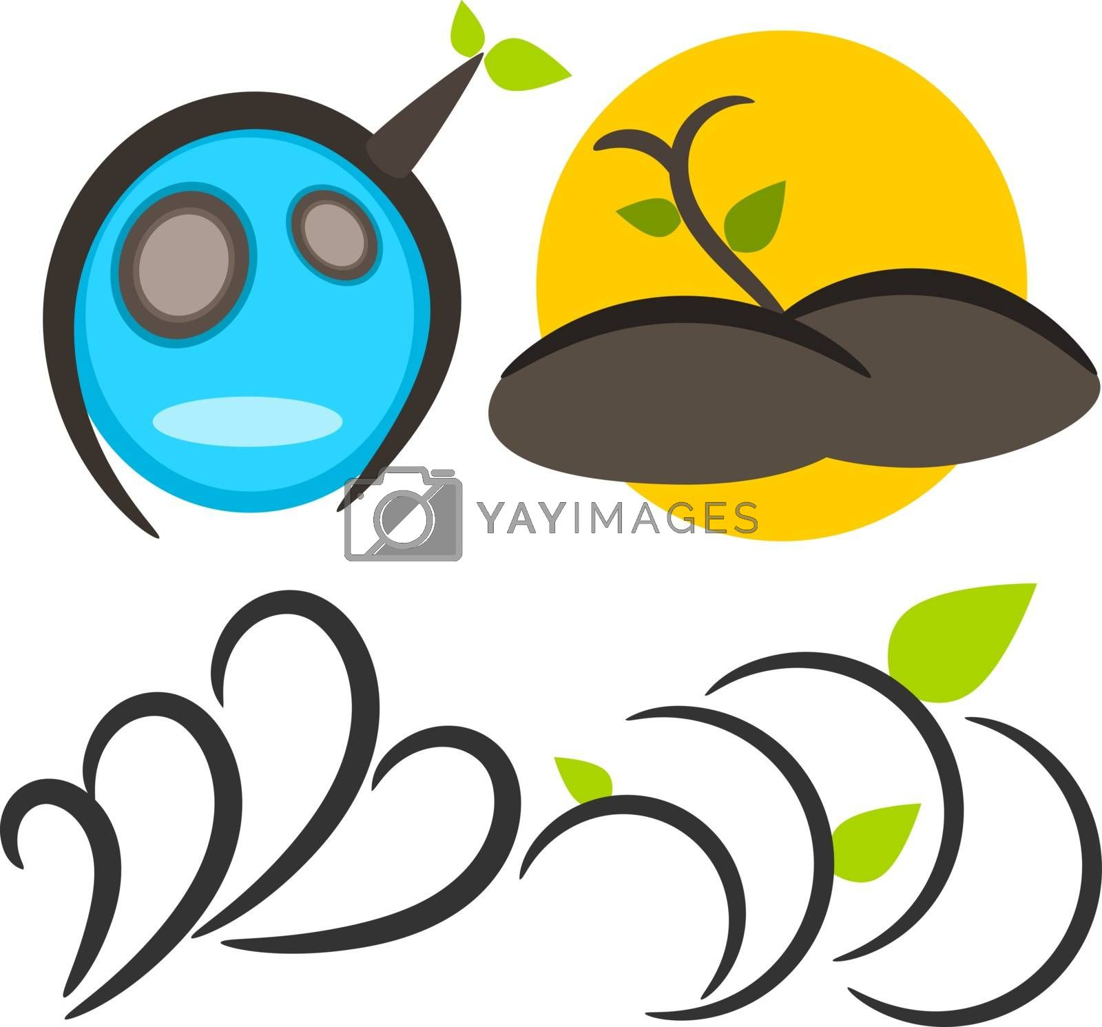 Nature tree symbol in ecology world concept illustration