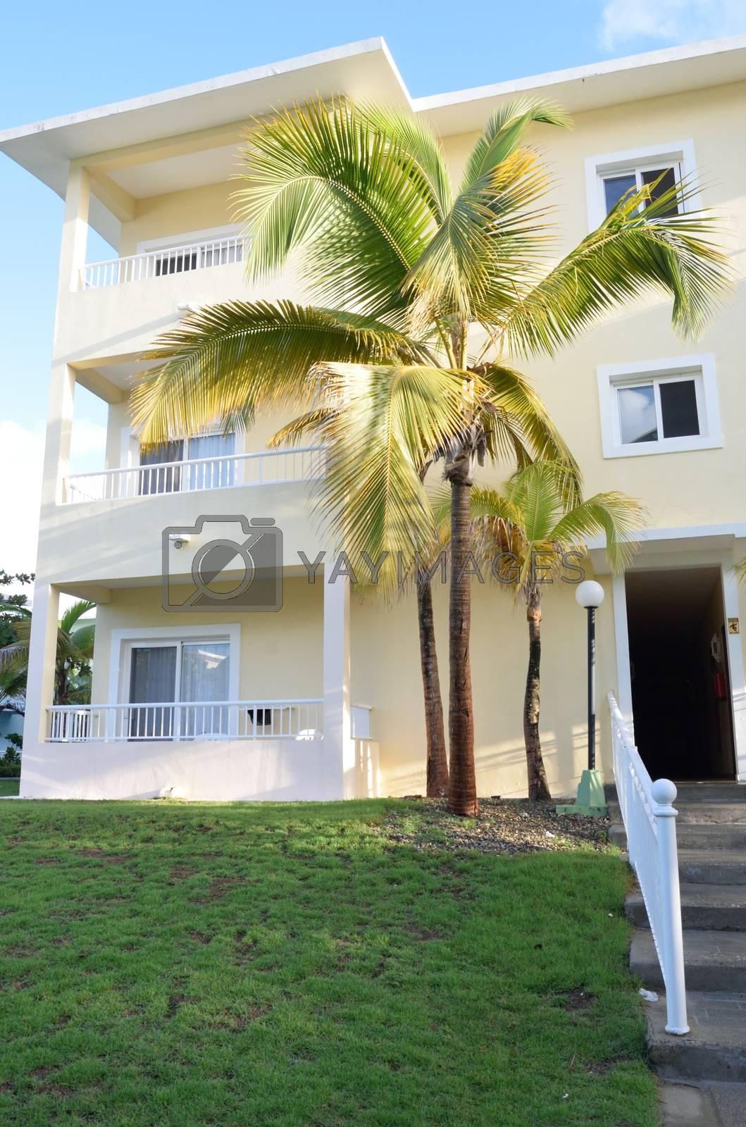 Hotel room block in caribbean
