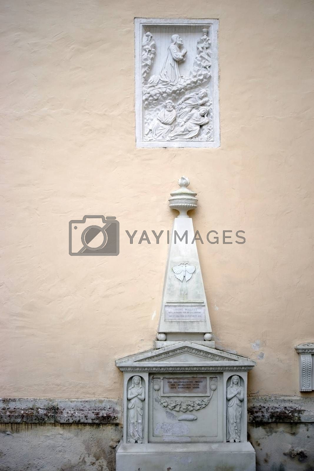 Royalty free image of Memorial Church of St. Stephan in Baden by ginton