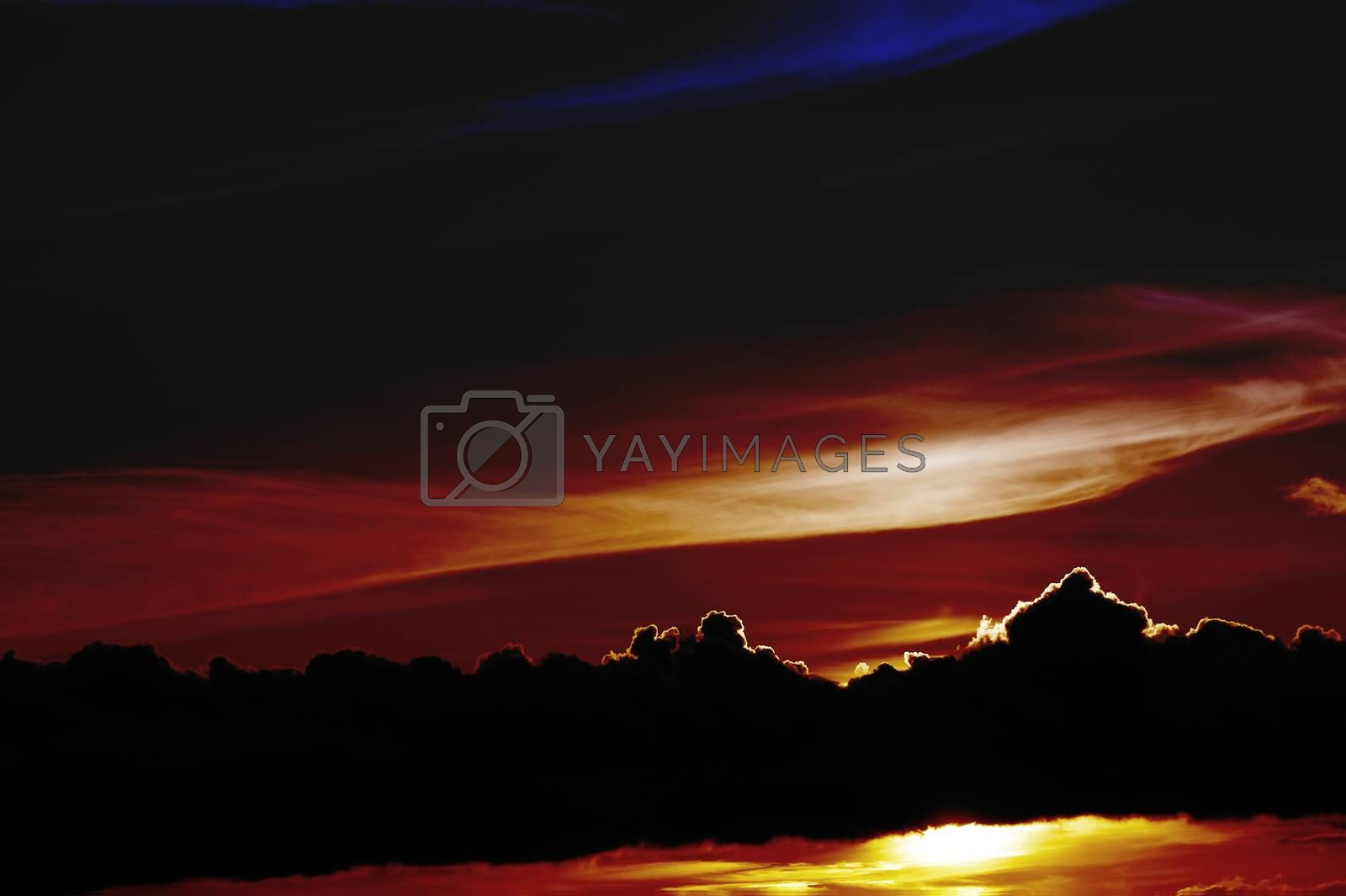 Royalty free image of Abstract sunset by ginton