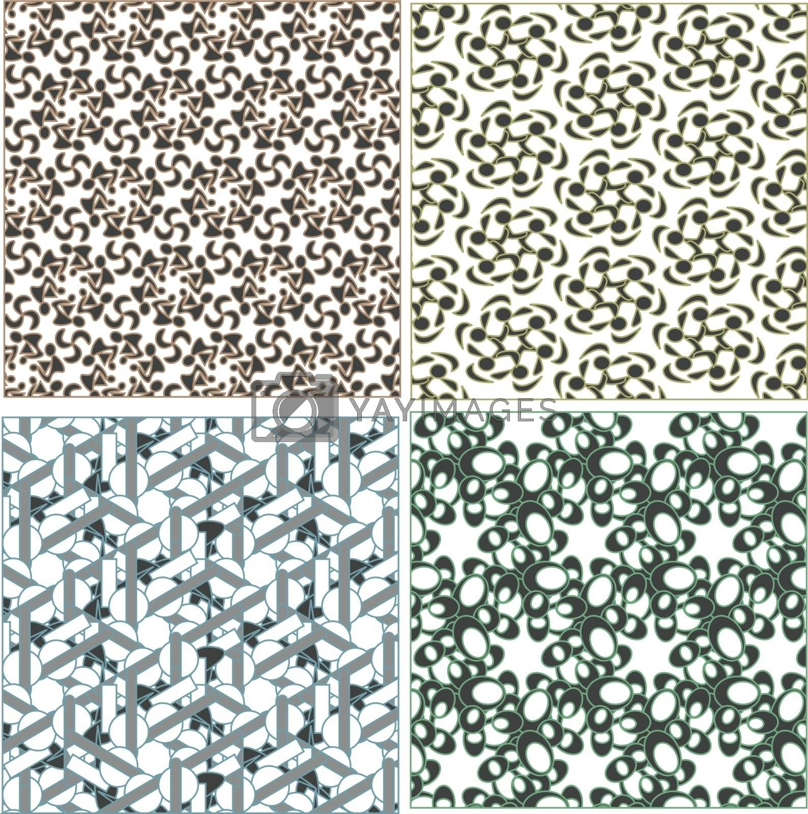 Seamless patterns in islamic style. Vector set
