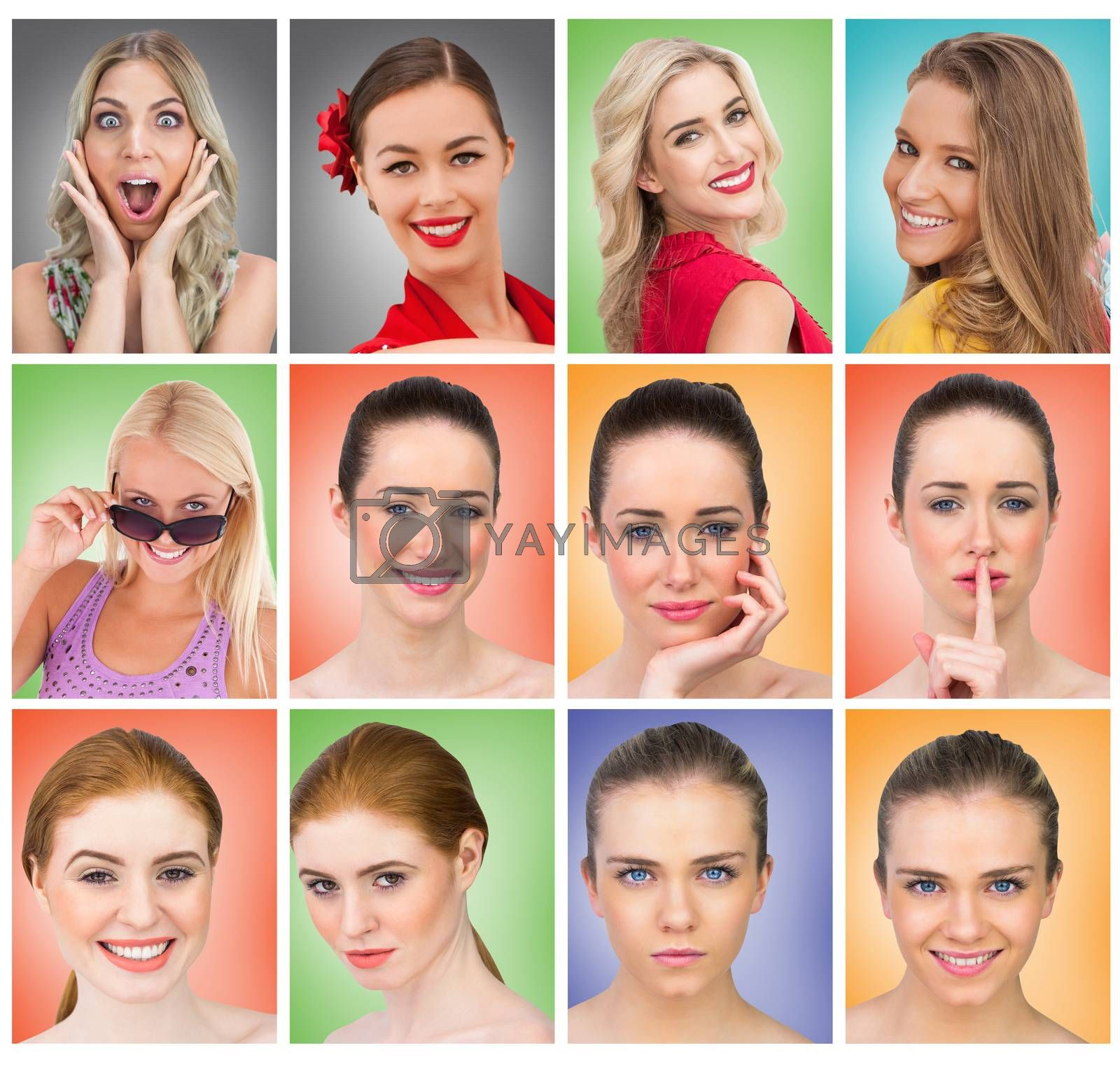 Composite image of composite image of smiling blonde natural beauty by Wavebreakmedia