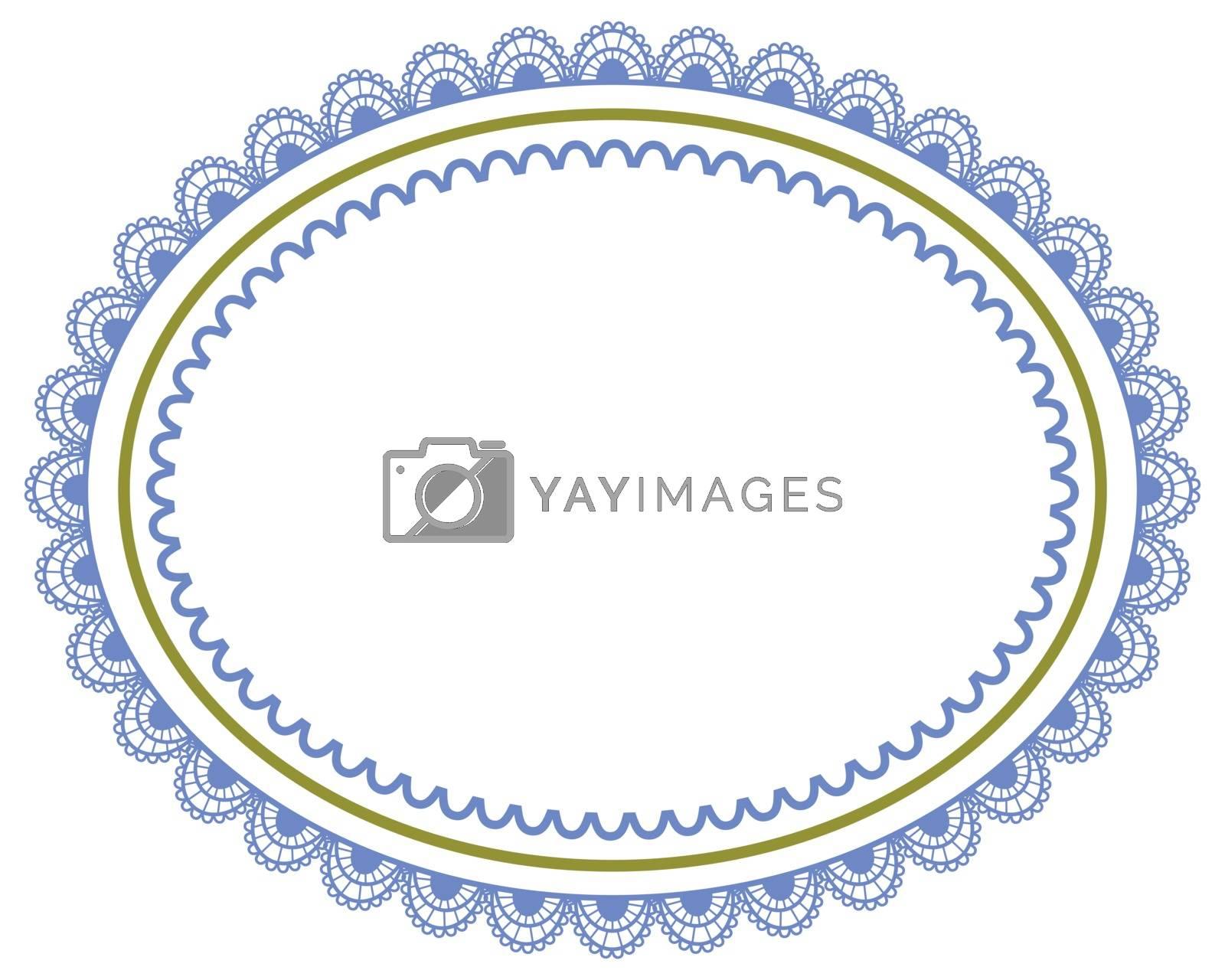 vector illustration. decorative frame on white background