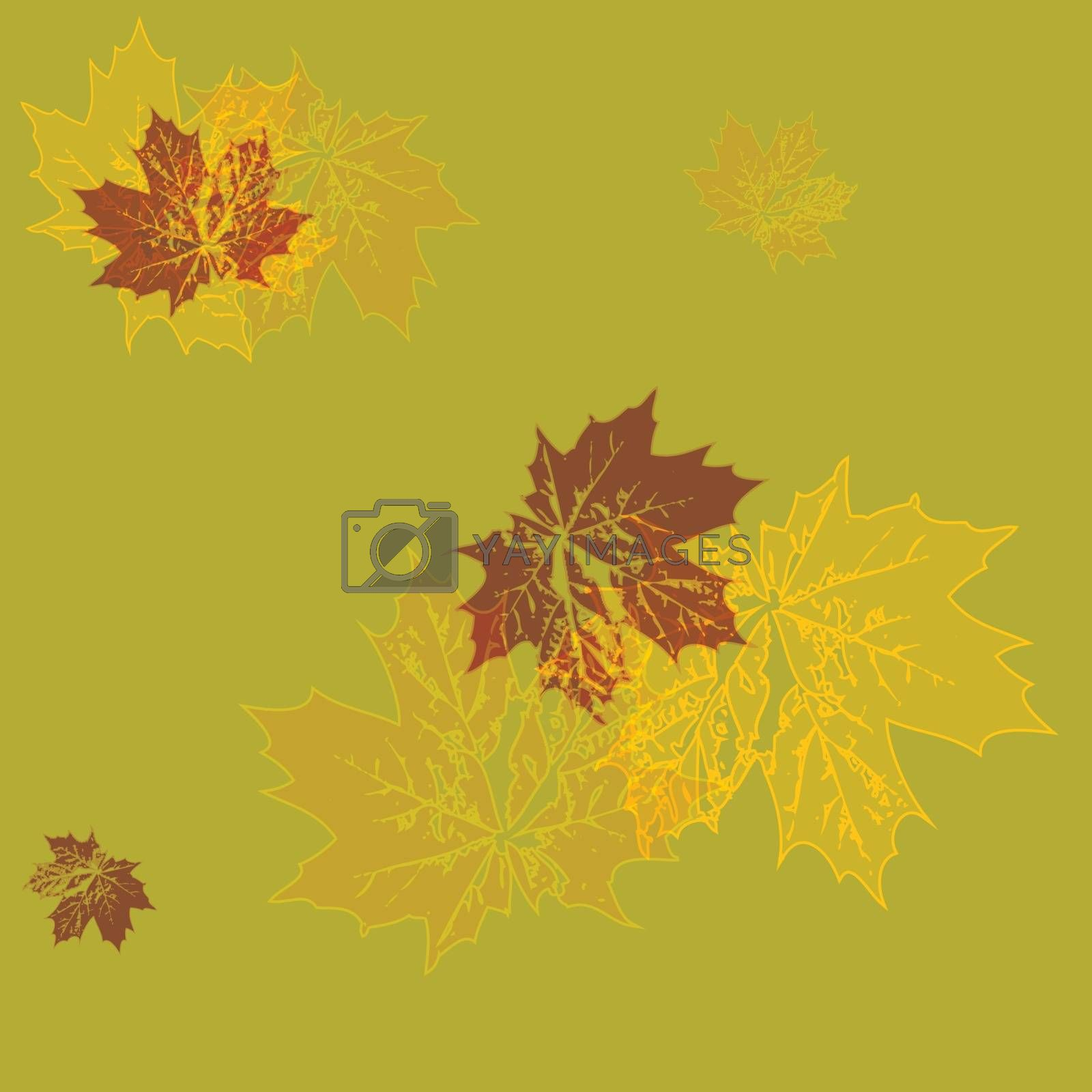 vector illustration. seamless wallpaper. yellow maple leaves
