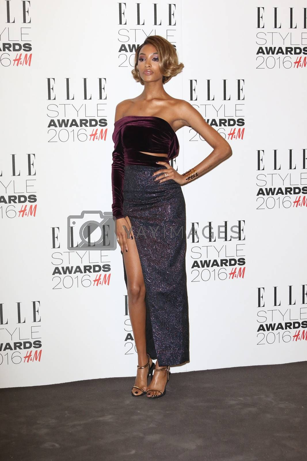 UK, London: British model Jourdan Dunn poses on the red carpet of the Elle Style Awards in London on February 23, 2016.