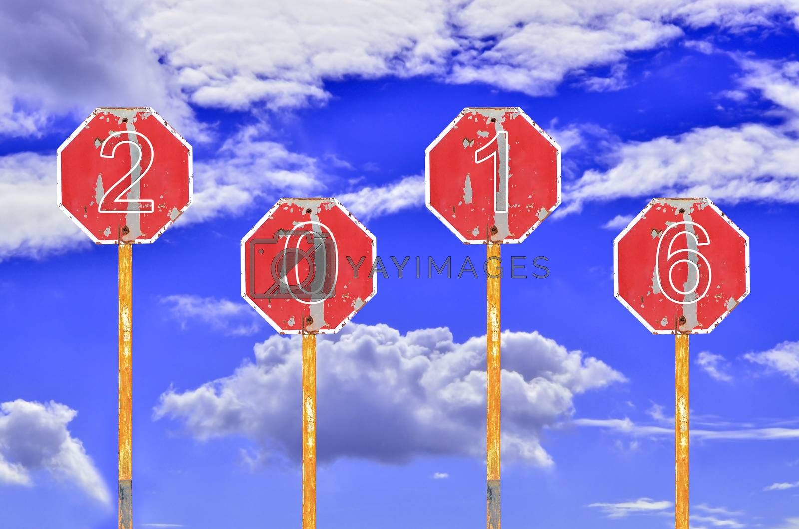 Royalty free image of Old Traffic Signs  by raweenuttapong