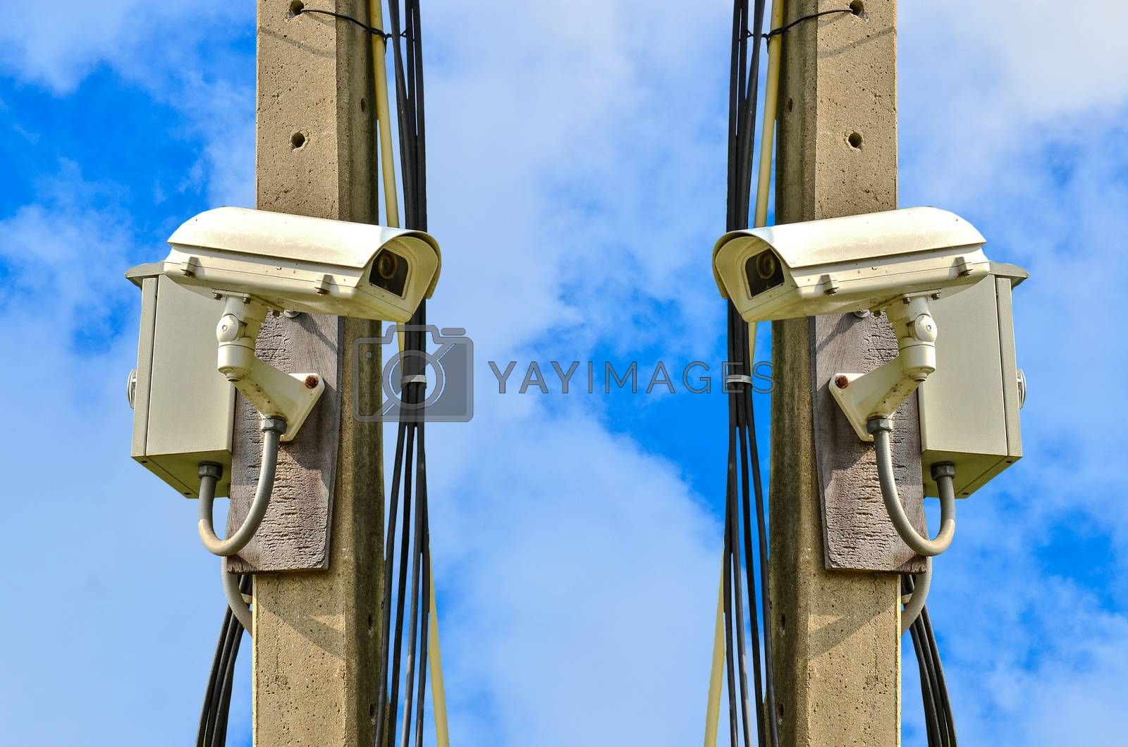 Royalty free image of closed circuit camera by raweenuttapong
