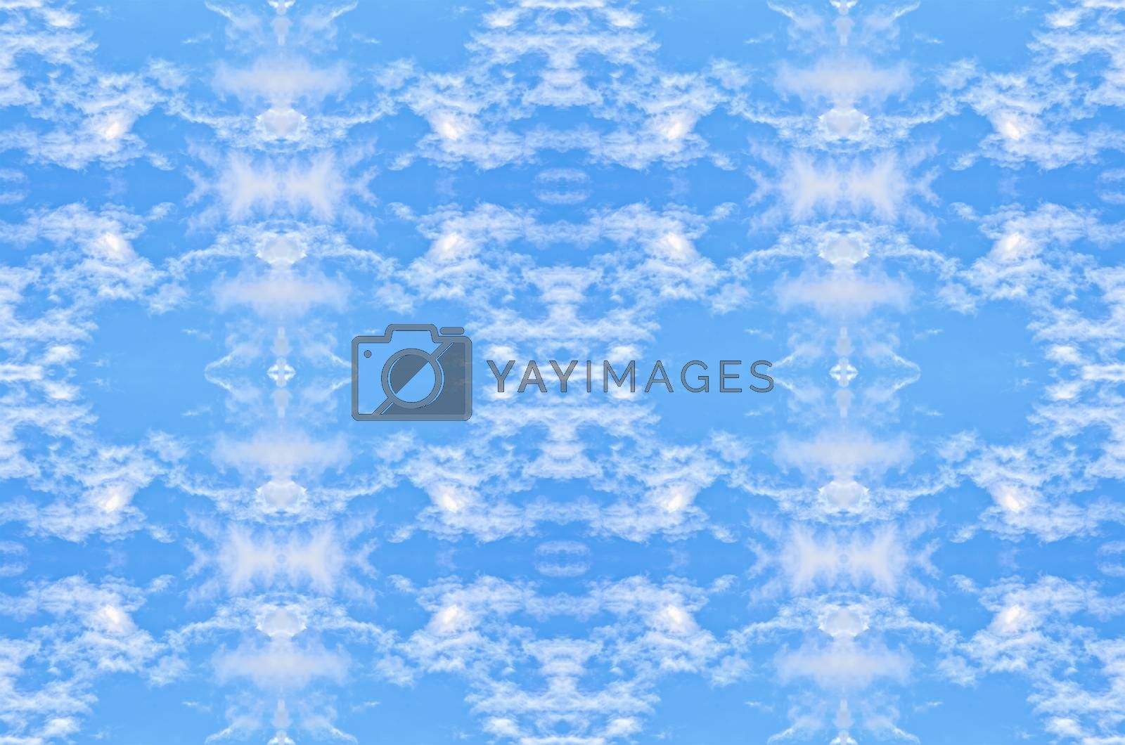 Royalty free image of white clouds in the blue sky by raweenuttapong