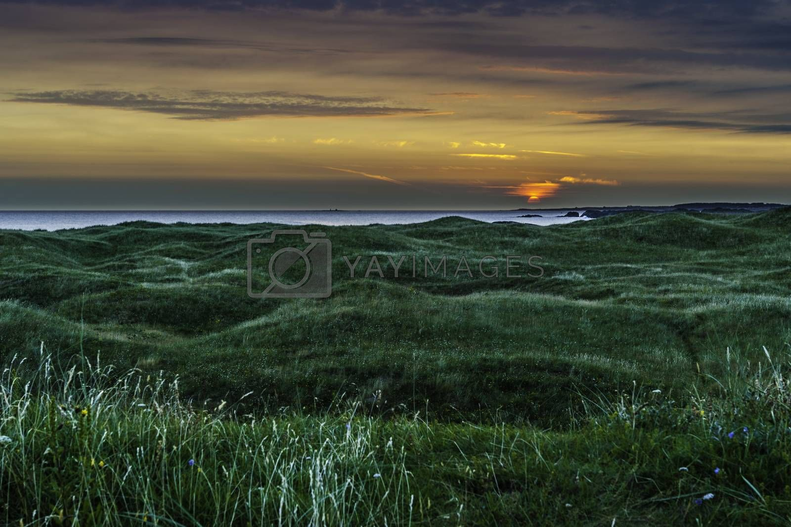 Solnedgang ved Ogna/Brusand på Jæren.