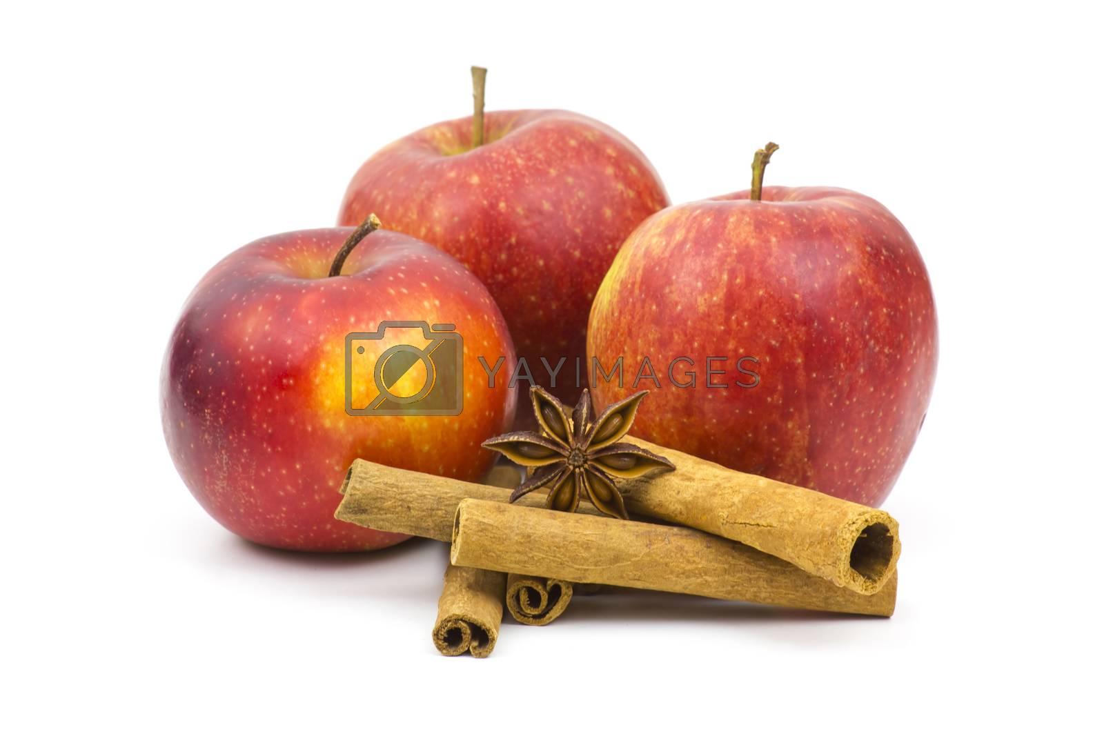 apples, cinnamon sticks and anise by miradrozdowski