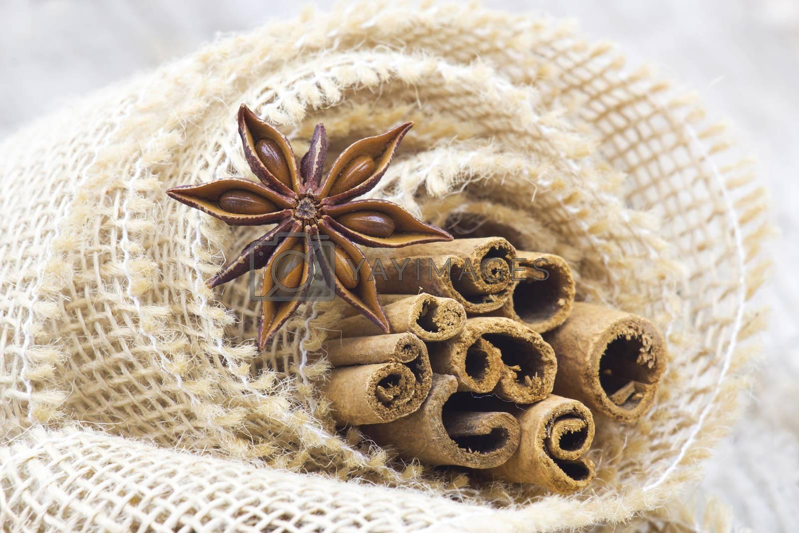cinnamon sticks and anise