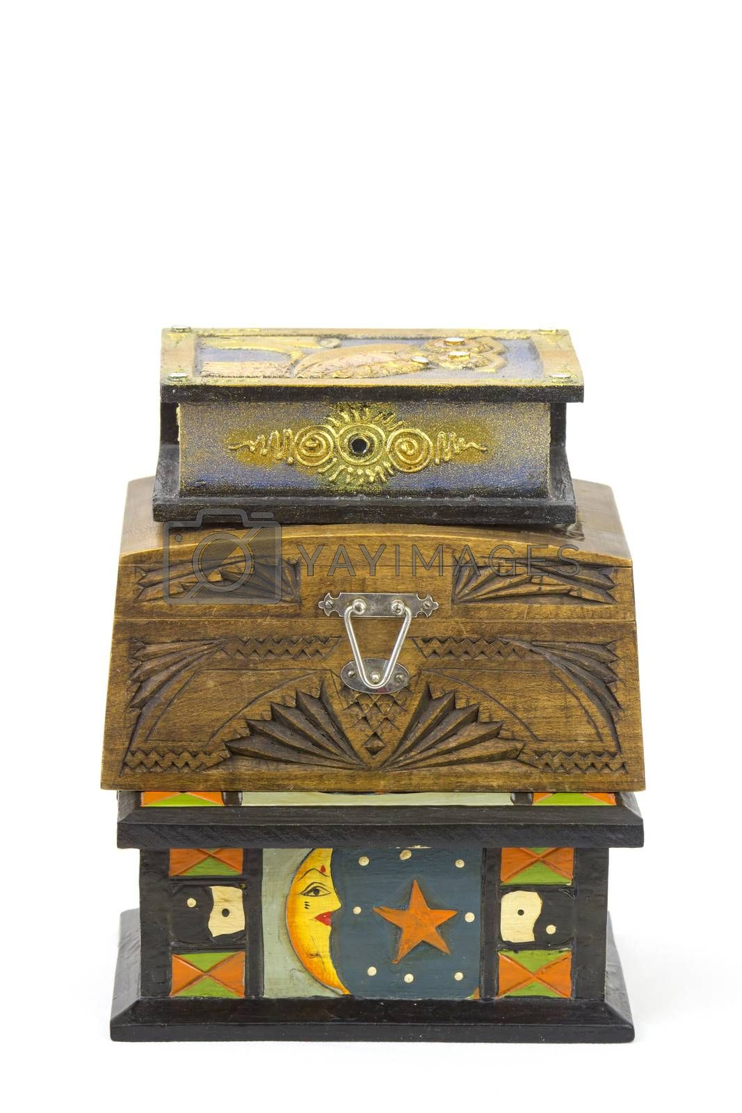 three wooden jewellery boxes