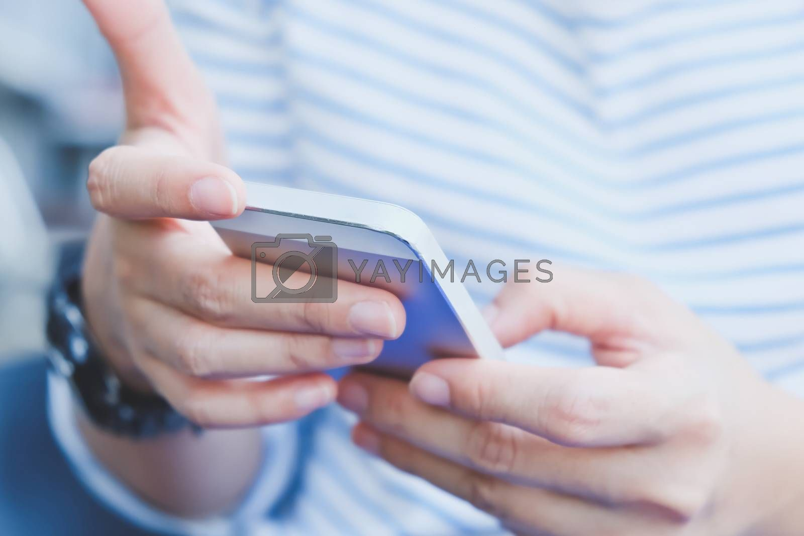 Communication technology, People Using a Smart Phone background