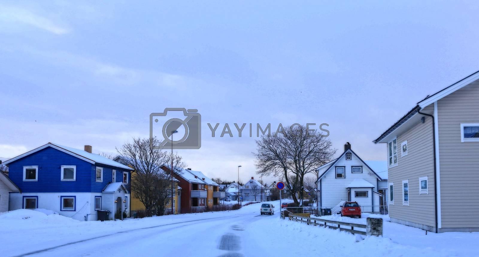 Mye sne i løpet av natten, her fra Sømnaveien