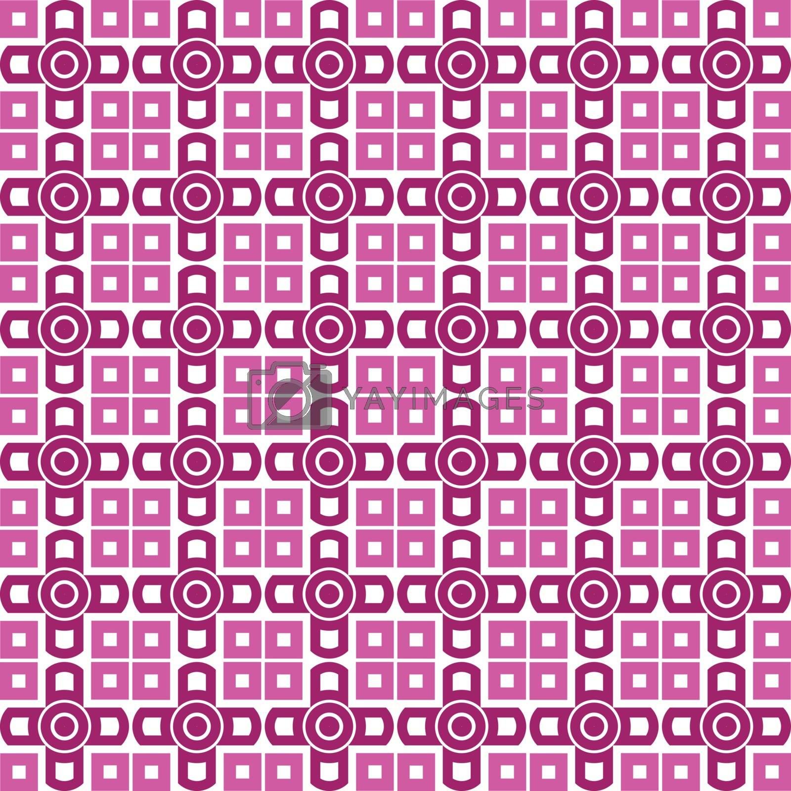 Seamless vector wallpaper. purple geometric repetitive print