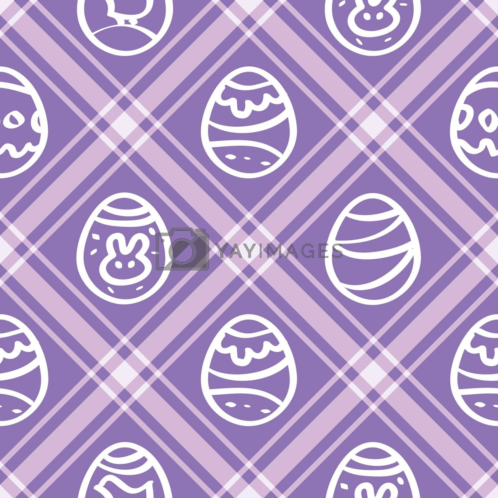 Seamless vector wallpaper. lilac print repetitive Easter eggs