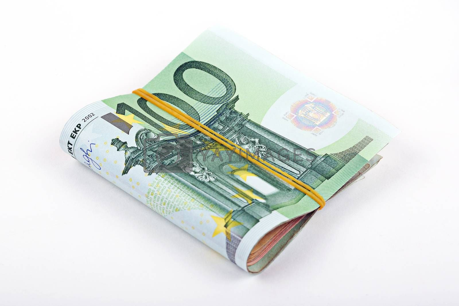 Bundle of European currency - 100 euro