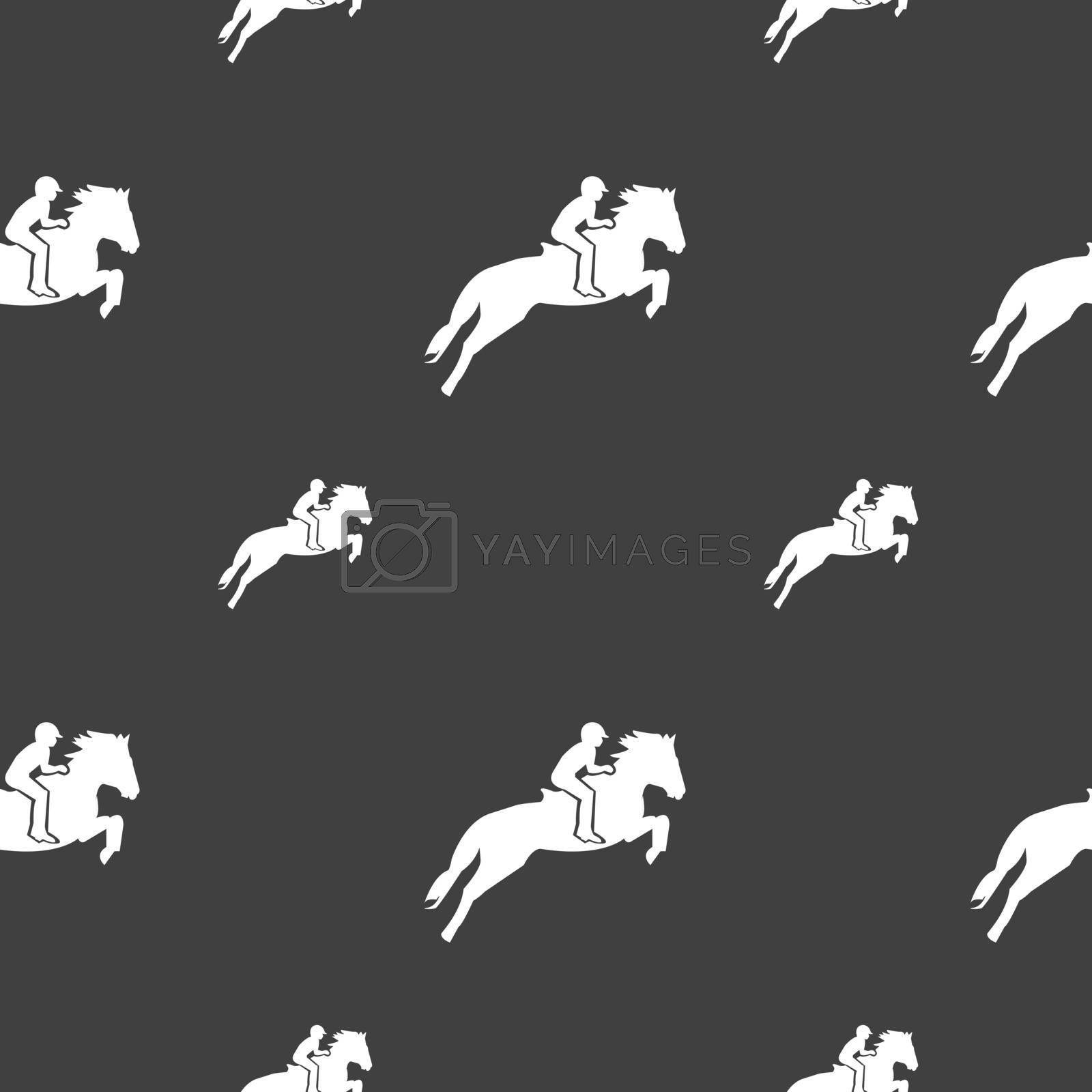 Horse Race Derby Equestrian Sport Silhouette Of Racing Horse Icon Sign Seamless Pattern On A Gray Background Vector Royalty Free Stock Image Stock Photos Royalty Free Images Vectors Footage Yayimages