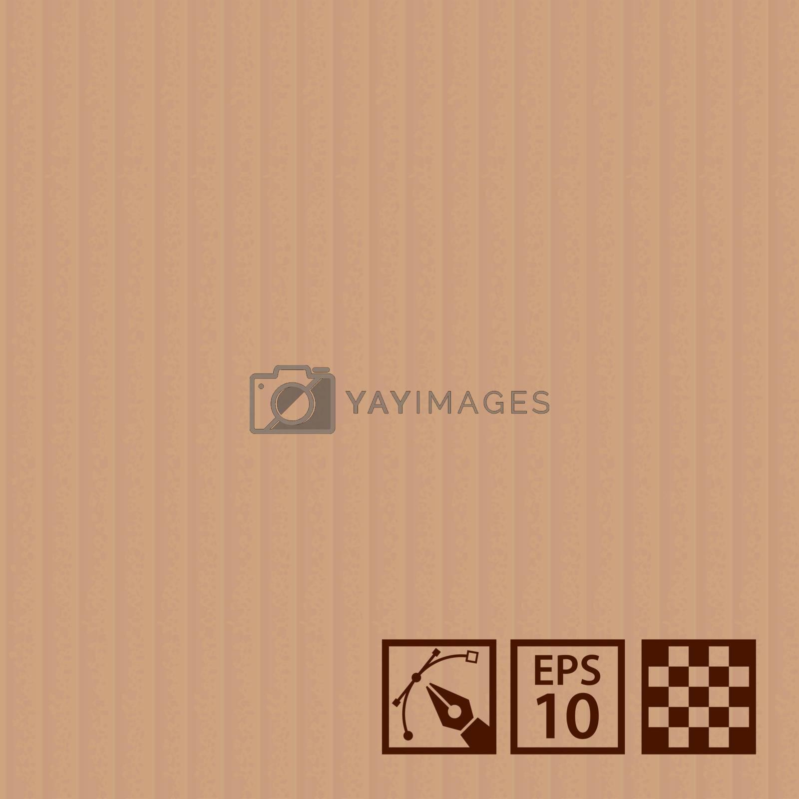 Seamless of realistic corrugated cardboard