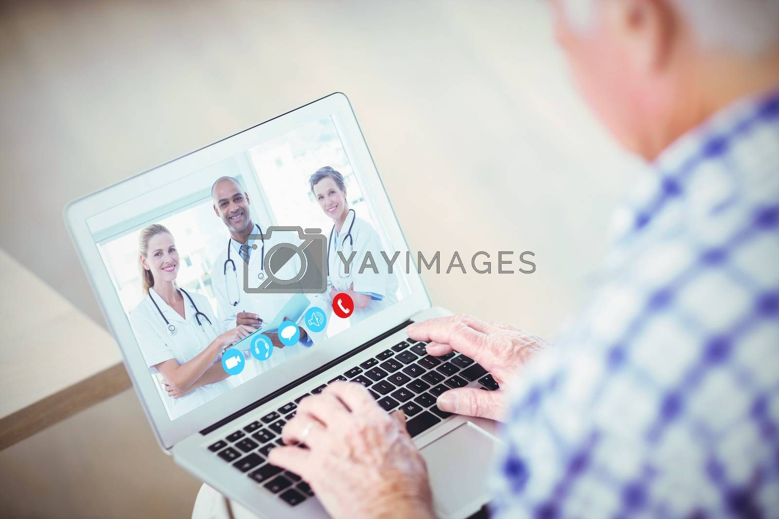 Royalty free image of Composite image of view of video chat app by Wavebreakmedia