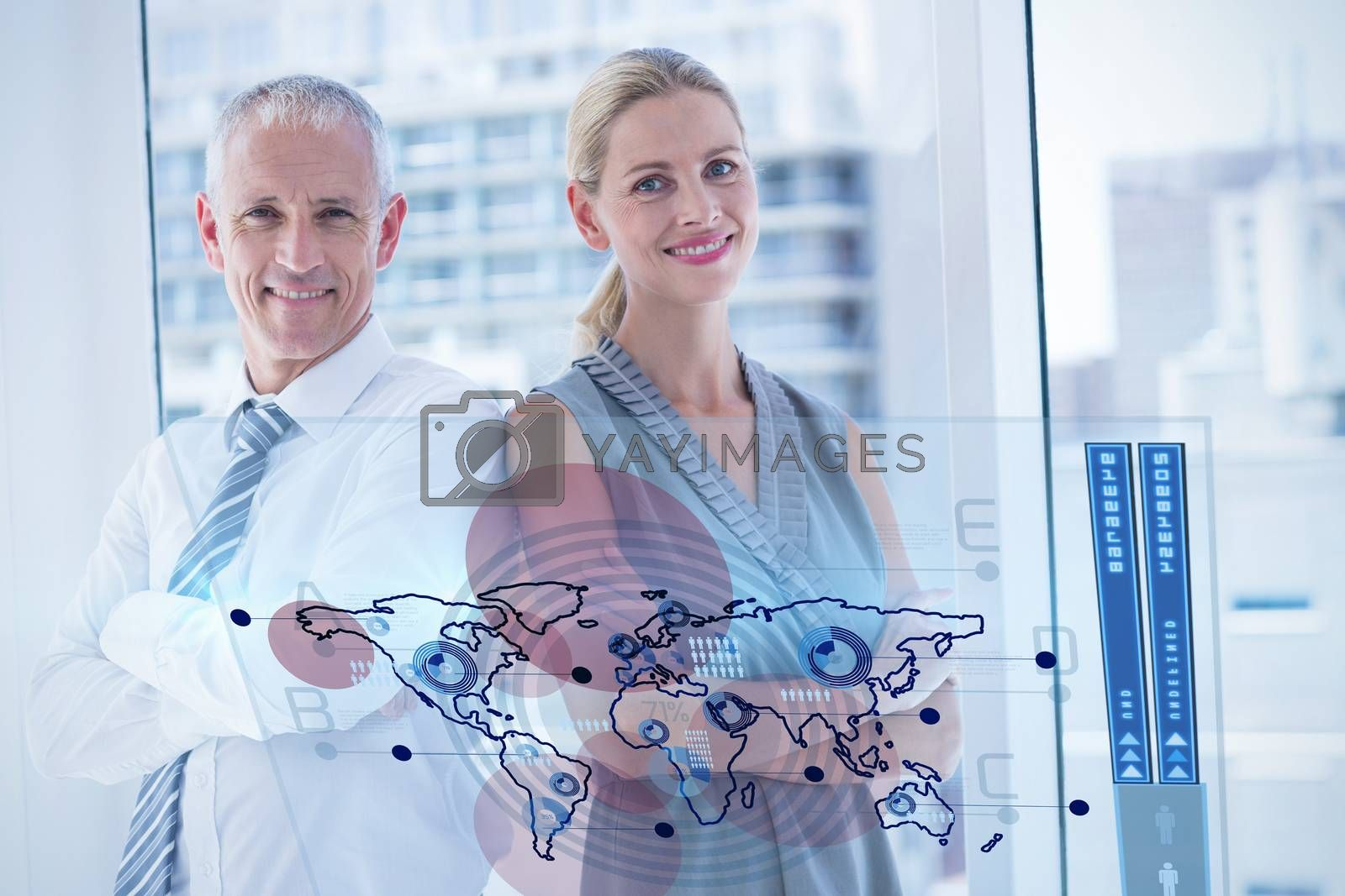 Royalty free image of Composite image of global business interface by Wavebreakmedia
