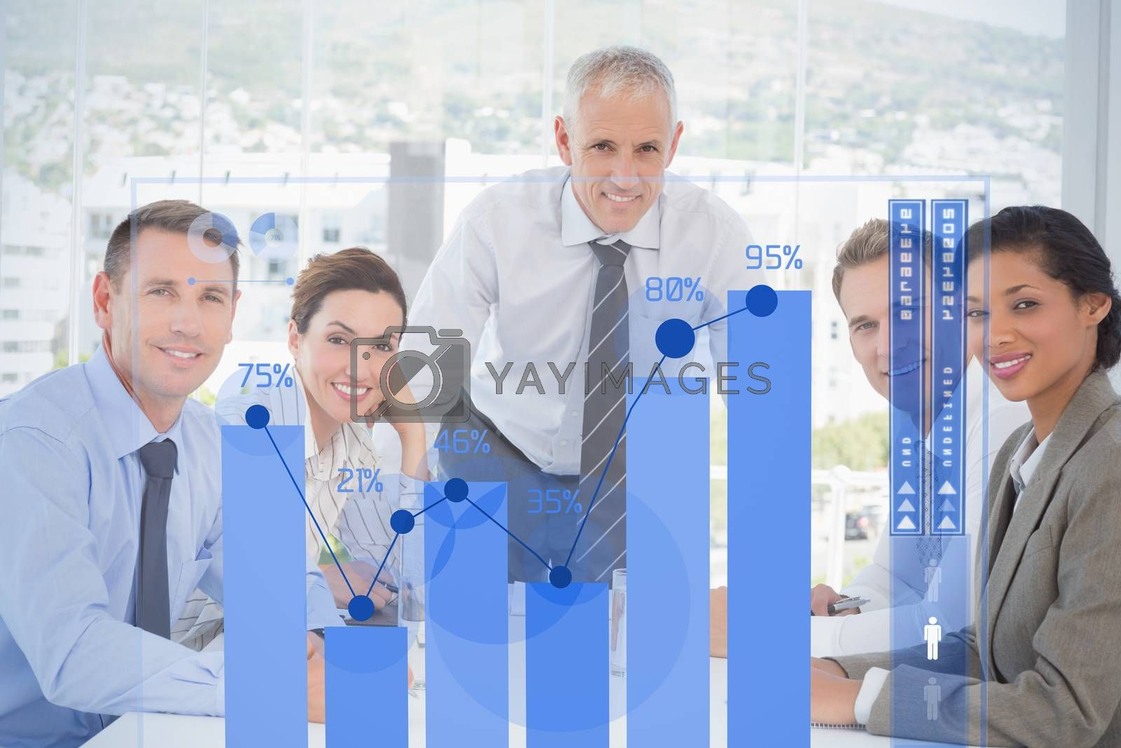 Royalty free image of Composite image of percentages graphical representation by Wavebreakmedia