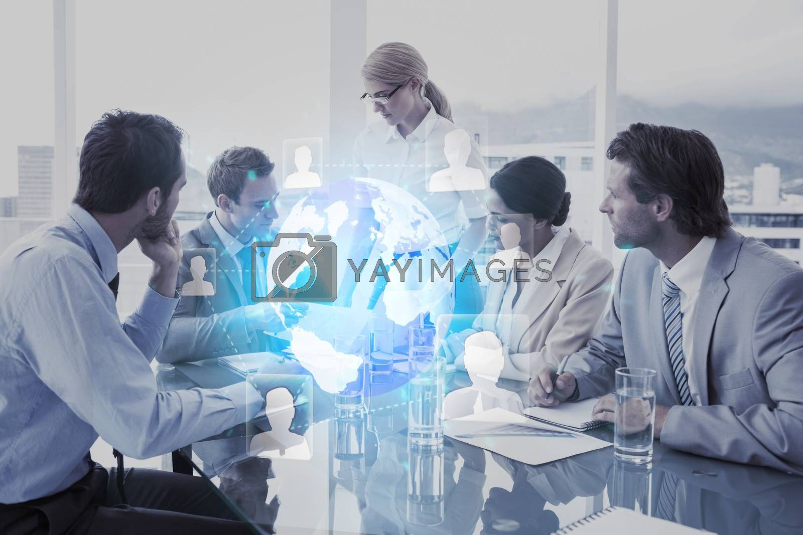 Royalty free image of Composite image of futuristic technology interface by Wavebreakmedia